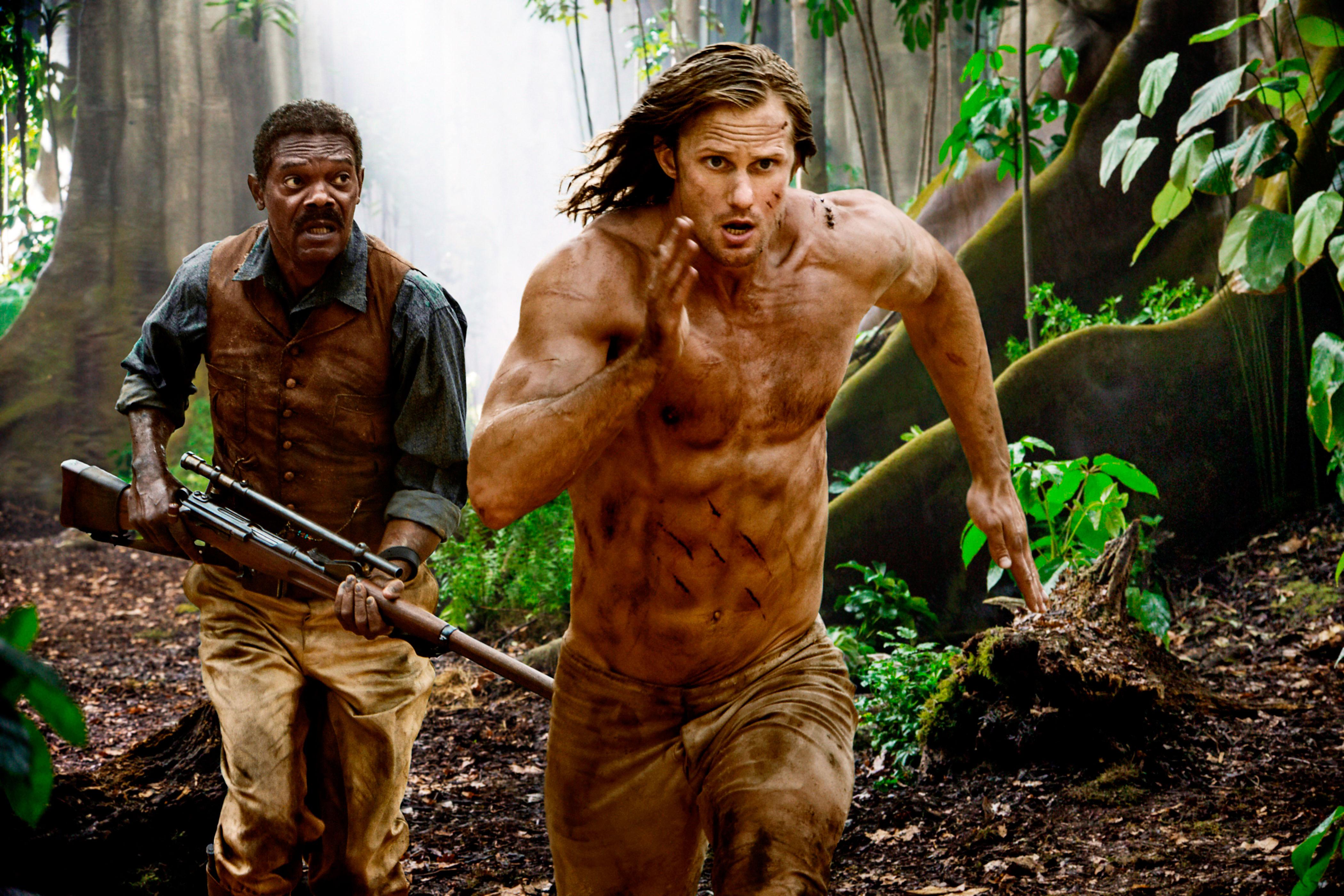 THE LEGEND OF TARZAN, from left: Samuel L. Jackson,Alexander Skarsgard as Tarzan, 2016 ph:Jonathan