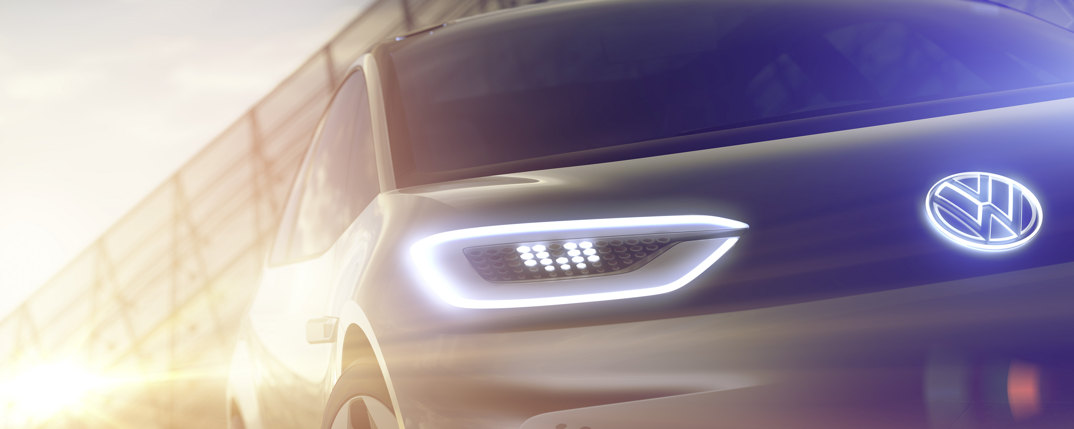 Volkswagen releases teaser photos of the electric concept car it plans to unveil at the 2016 Paris Motor Show.