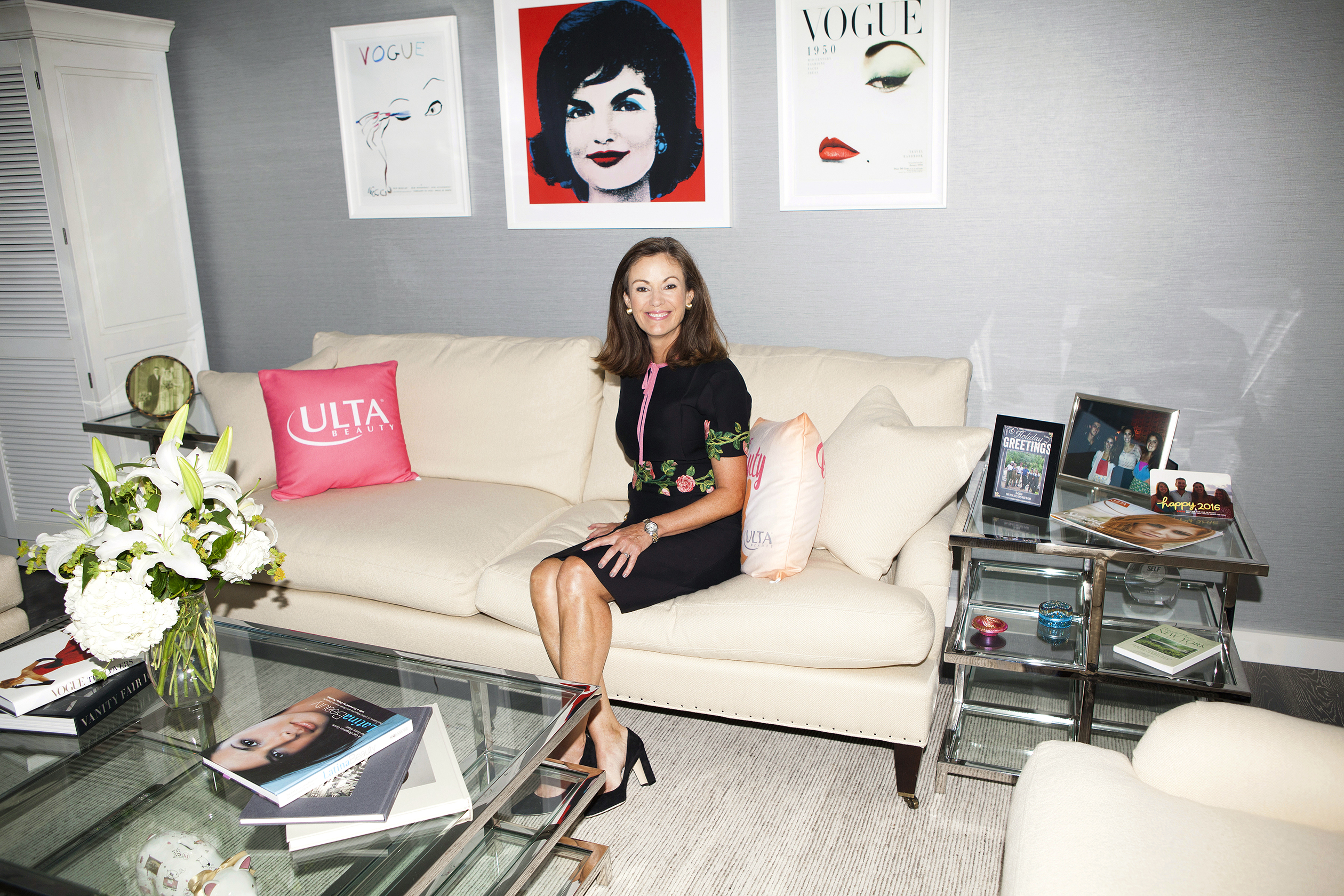 6:09 p.m. Dillon, shown here at Ulta's headquarters in Bolingbrook, Ill., rose in the marketing world by getting inside her customers' heads. She once ran a marathon just so she could better understand Gatorade drinkers' needs.