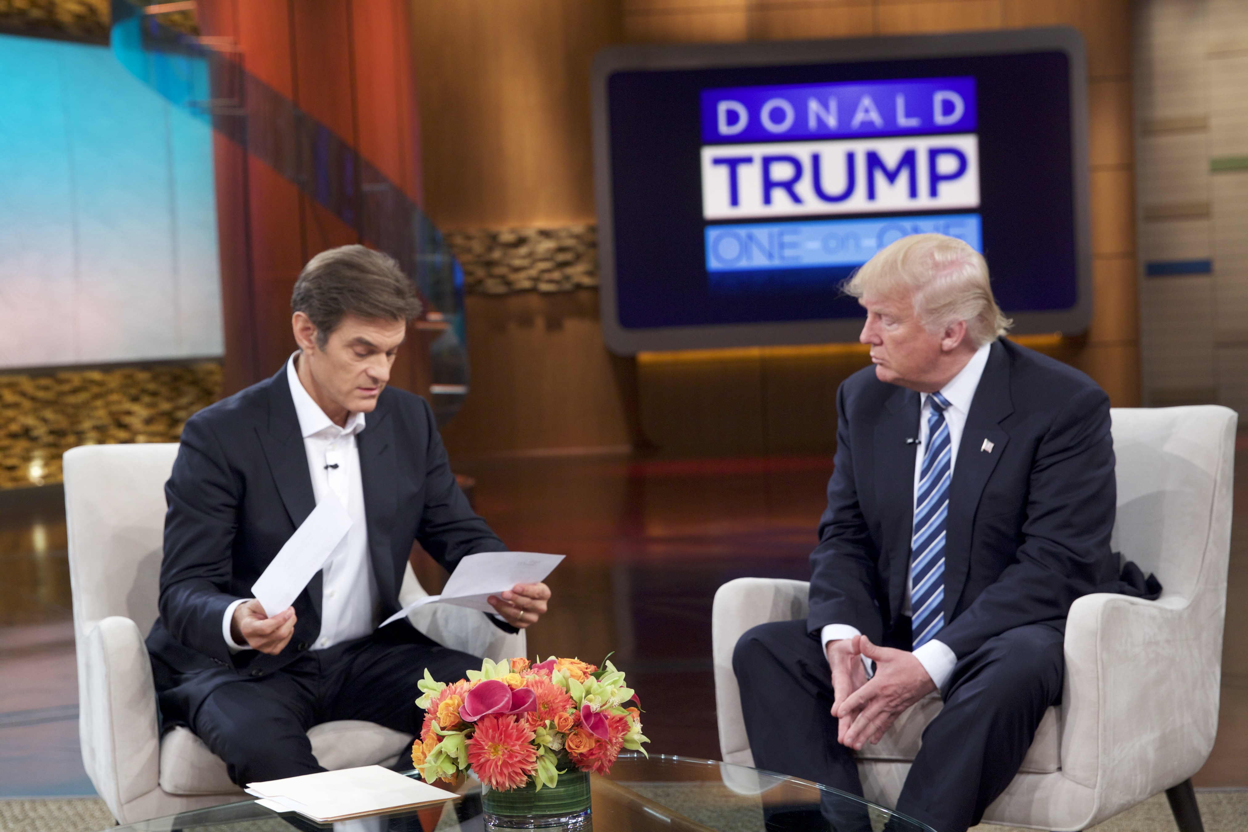 Republican presidential nominee Donald Trump spoke with the TV personality about his health.