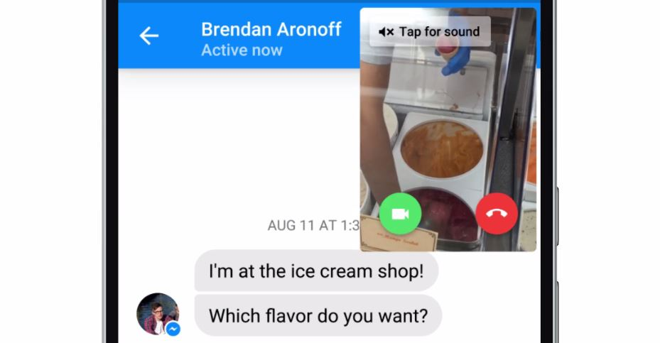 Facebook Messenger's Instant Video feature