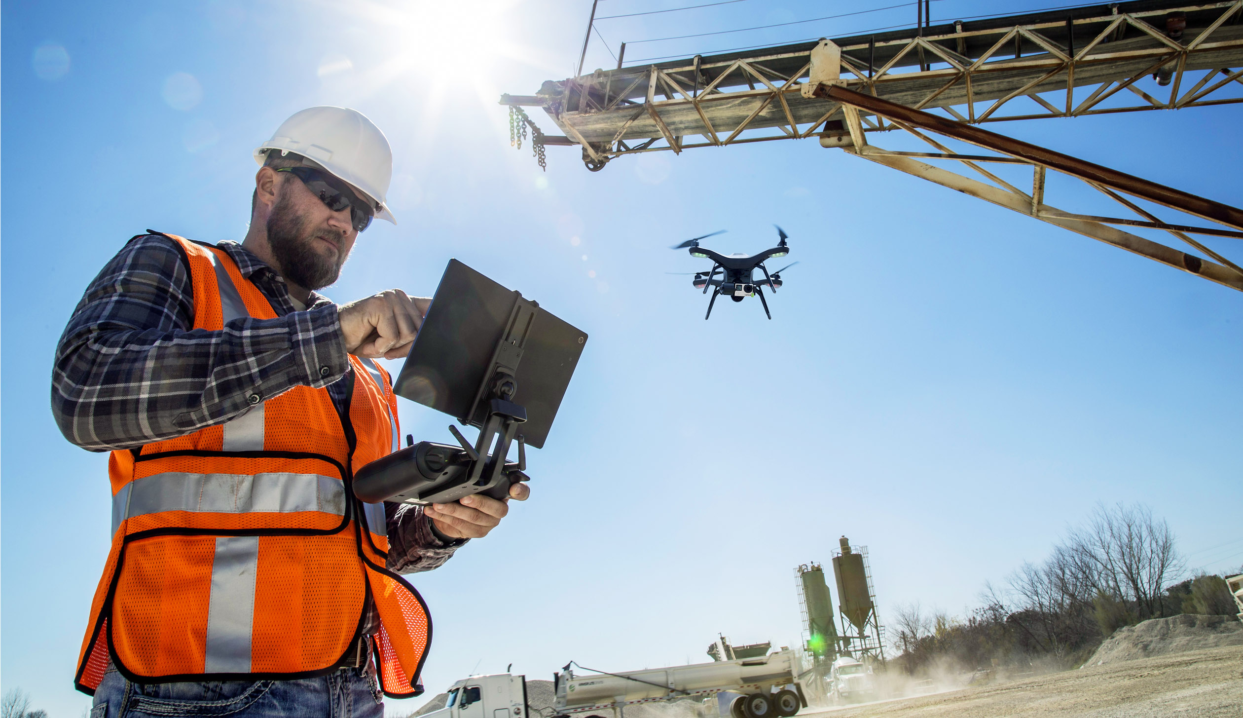 3D Robotics' aerial data system in action. Autodesk invested in the company in June as part of a broader bid to serve the construction industry.