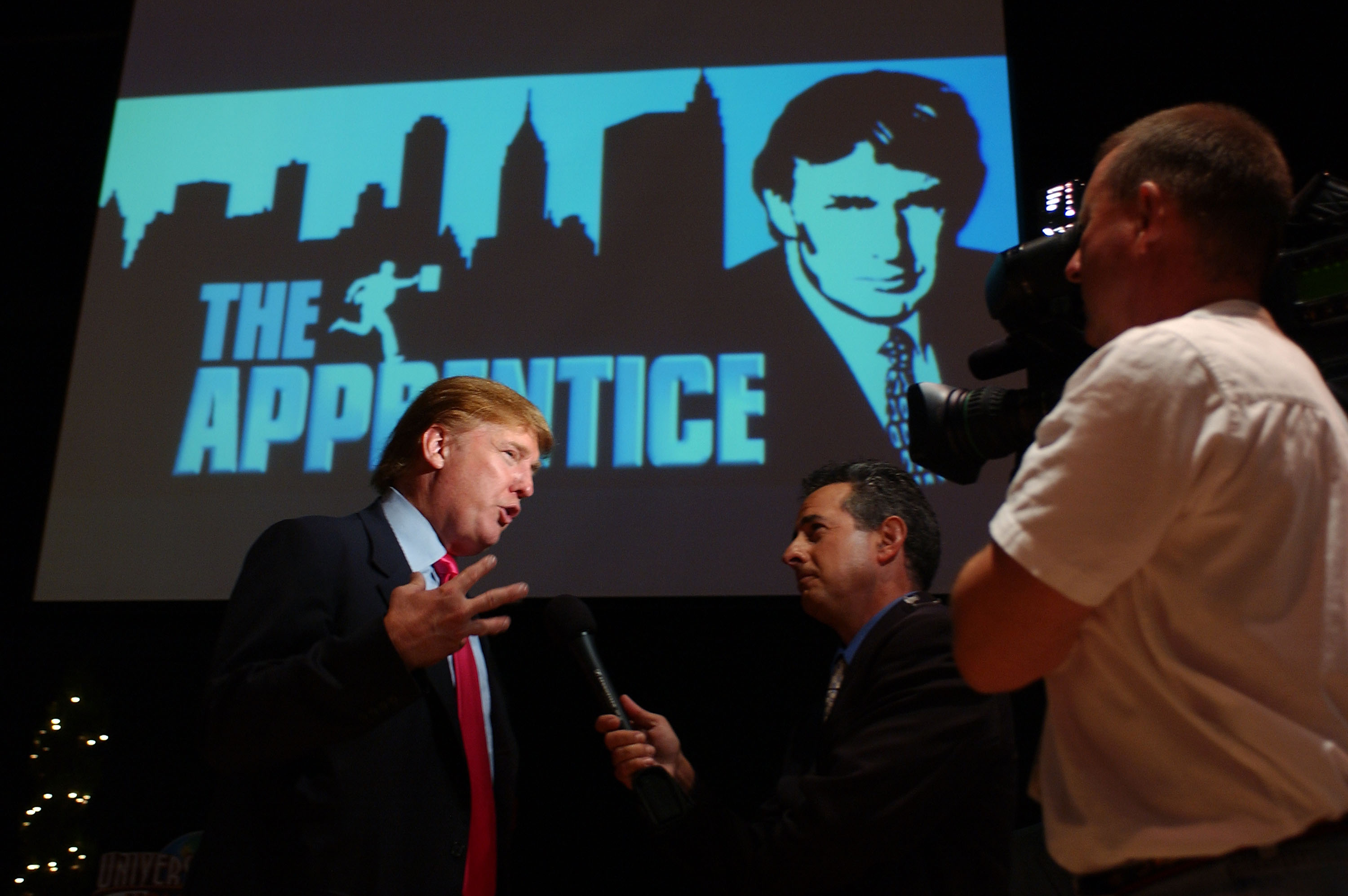 Donald Trump attends the first stop of 'The Apprentice' Recruiting Tour in 2004.