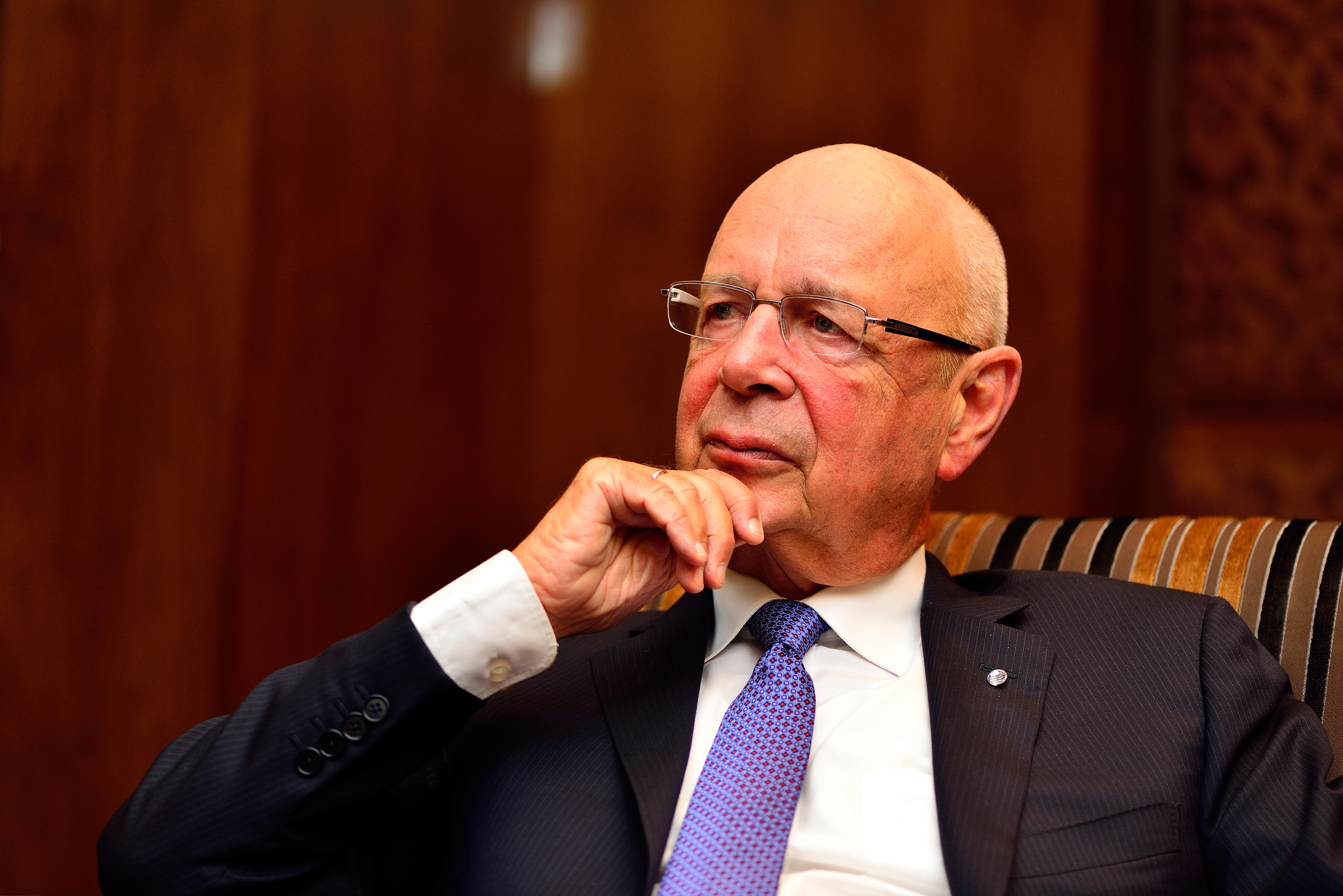 Profile Shoot Of Founder And Executive Chairman Of The World Economic Forum Klaus Schwab