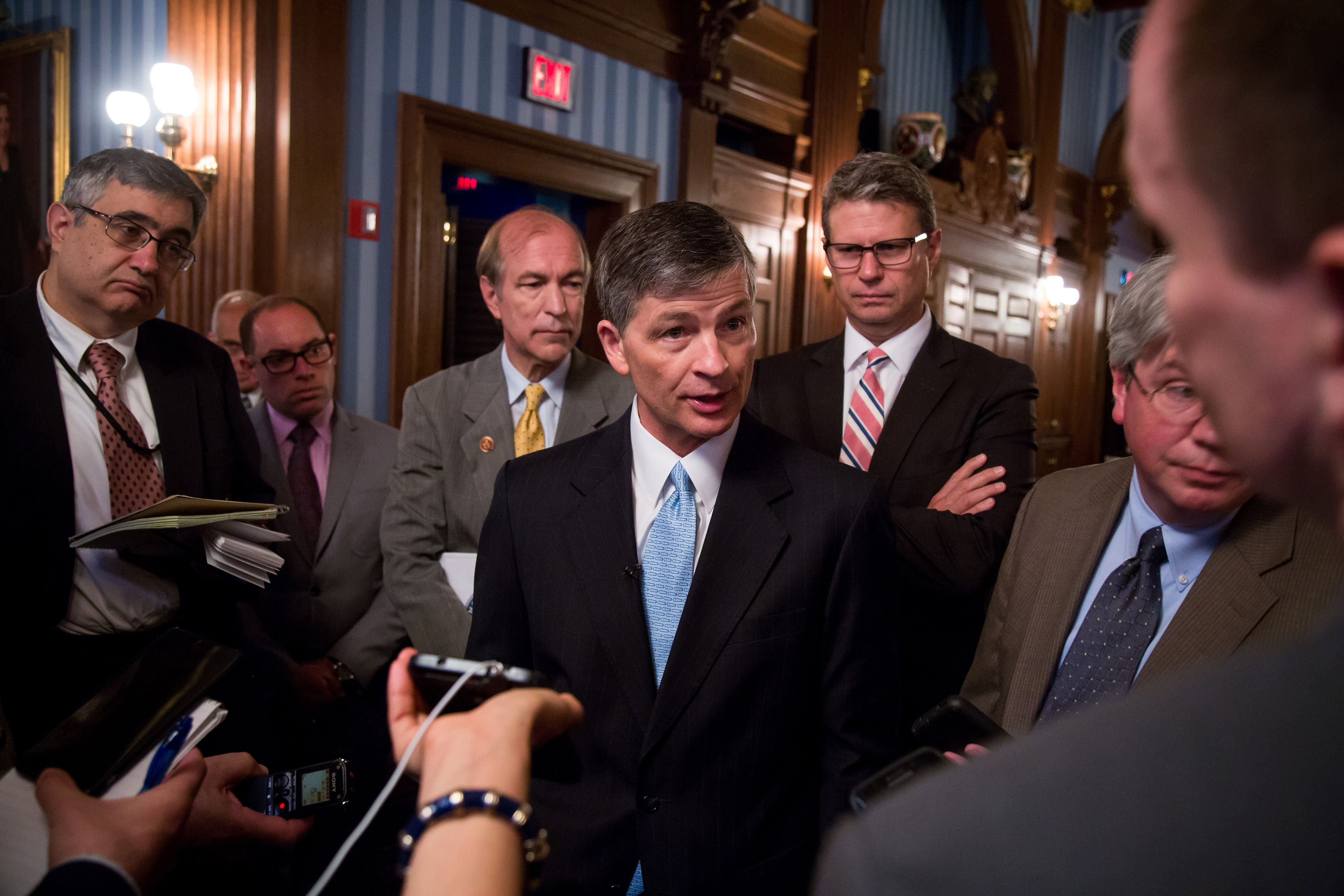 U.S. Representative And Chairman Of The Financial Services Committee Jeb Hensarling Speaks At The Economic Club of New York