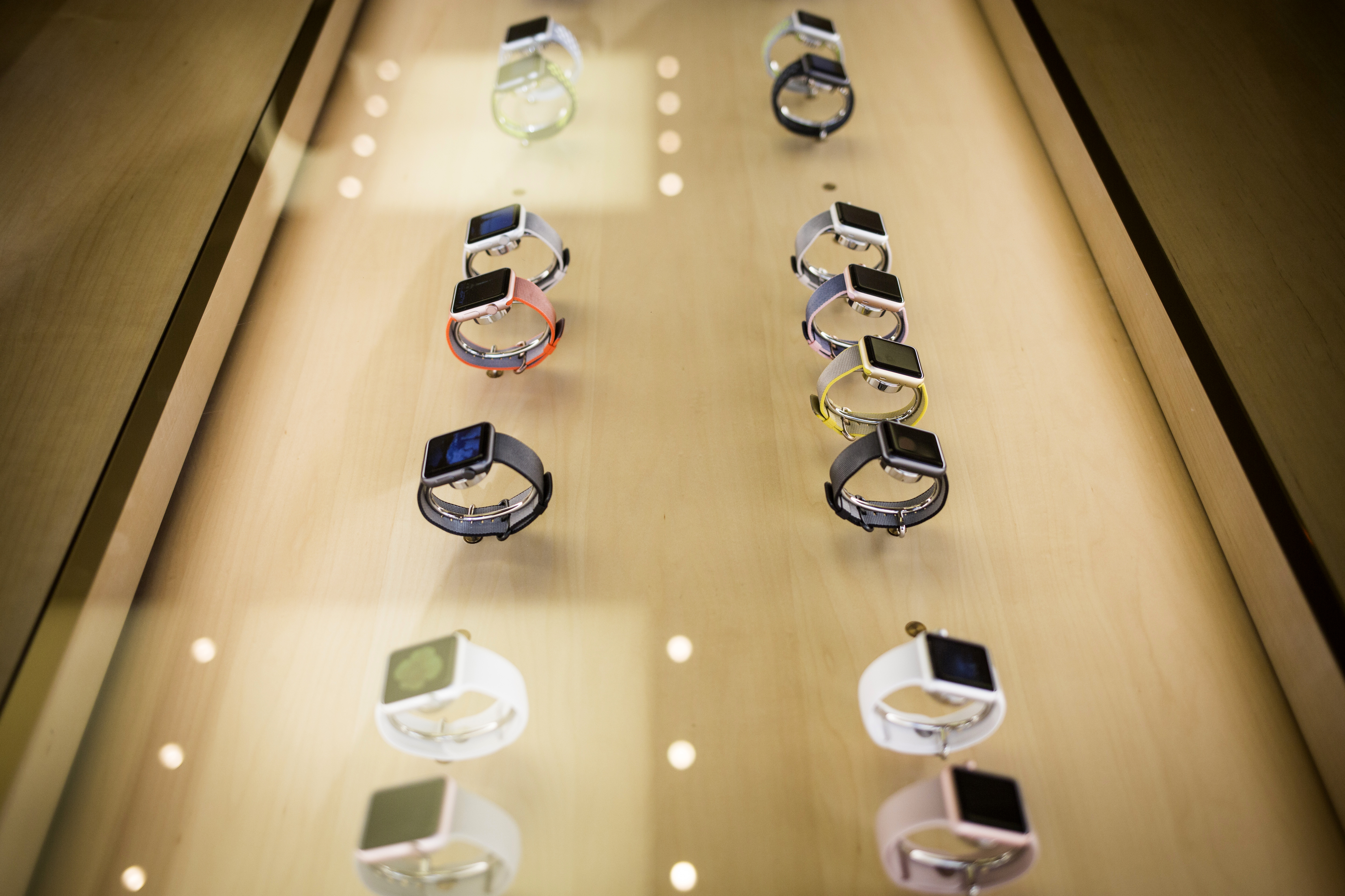 Inside An Apple Inc. Store As New Generation iPhone And Apple Watch Go On Sale