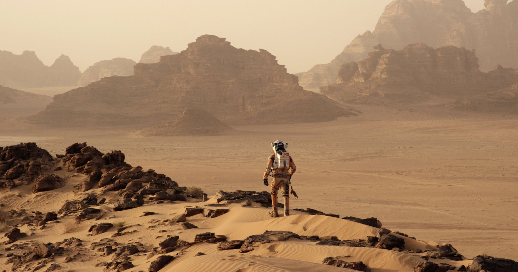 "A scene from the movie, ""The Martian."""