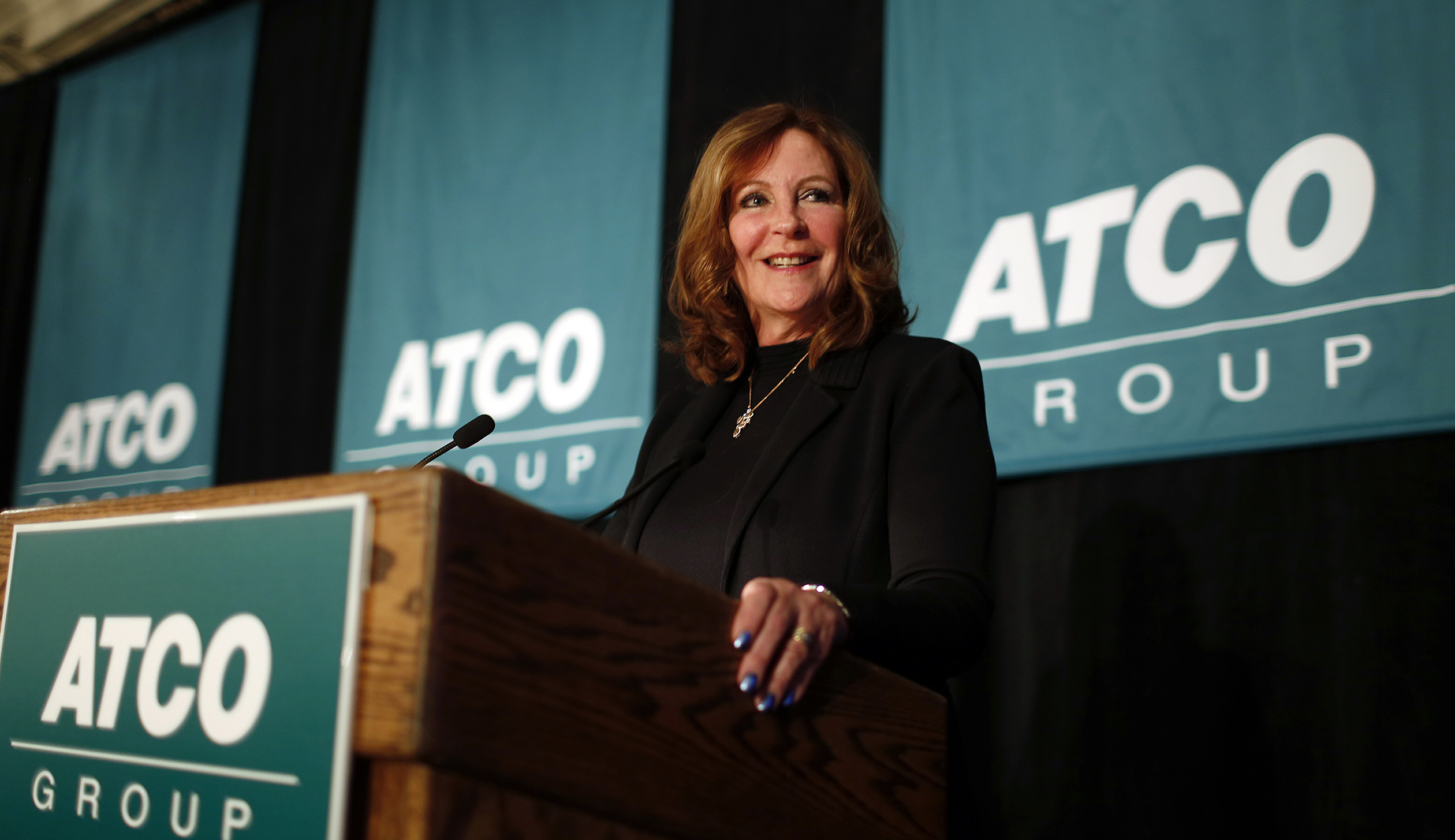 President and CEO of Atco Southern  addresses shareholders at the company's annual meeting in Calgary.