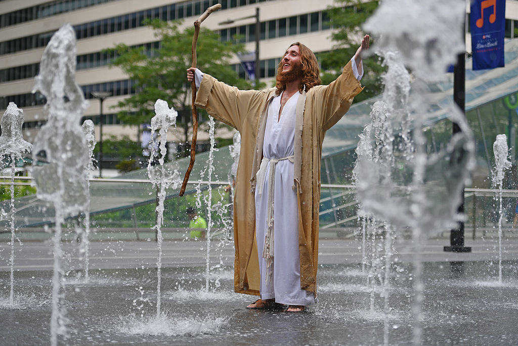 """Michael Grant, also known as """"Philly Jesus"""""""