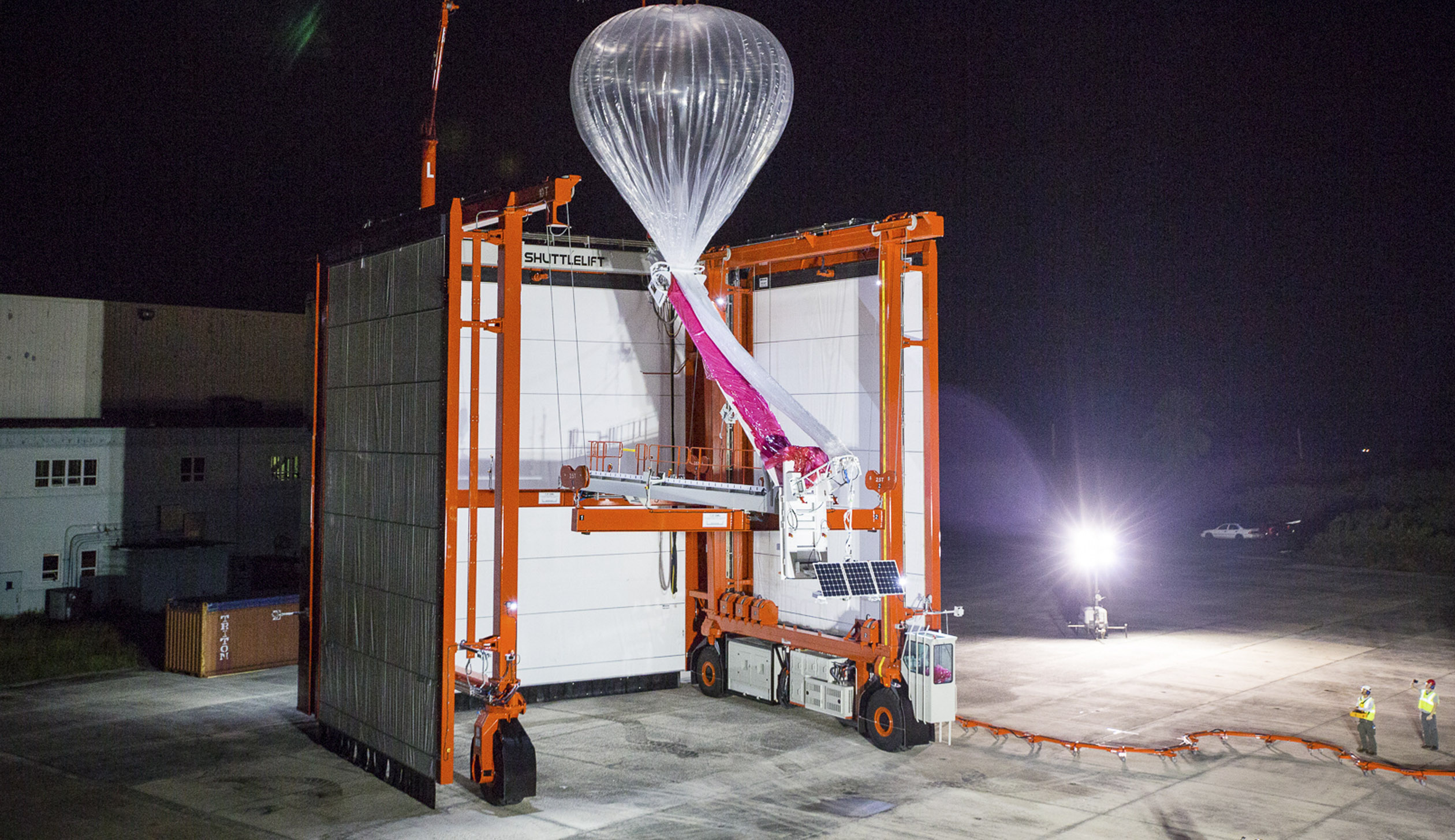 Alphabet's Project Loon Autolauncher designed to fill and launch a new balloon every 30 minutes.