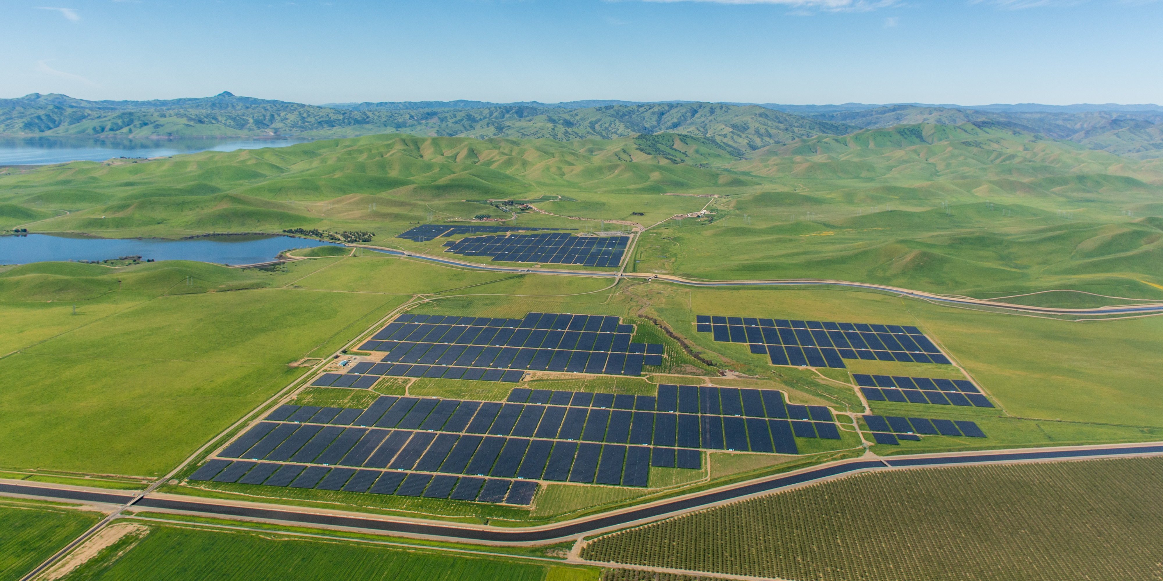SunPower's 135 MW Quinto solar panel project in Merced County, Calif, providing energy to Southern California Edison.