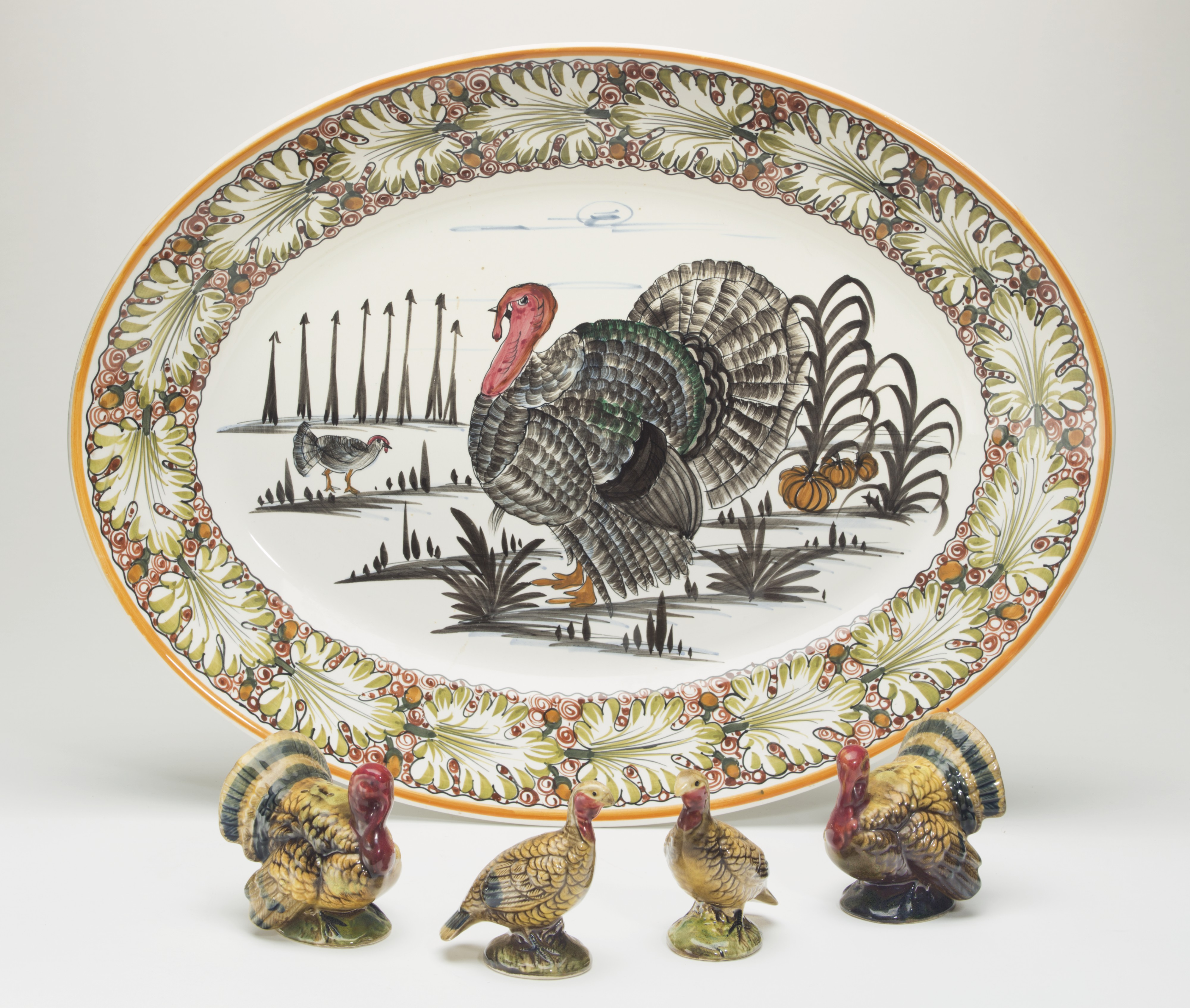 "The Reagan family's ""Thanksgiving"" platter. Online sale, estimated range: $500-1,000."