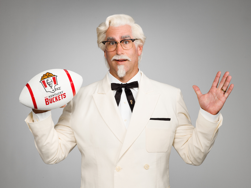 Actor, comedian and writer Rob Riggle is KFC's newest colonel.