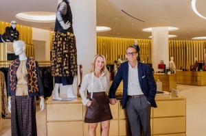Saks Fifth Avenue President Marc Metrick and Chief Merchant Tracy Margolies at the retailer's new store in Lower Manhattan.