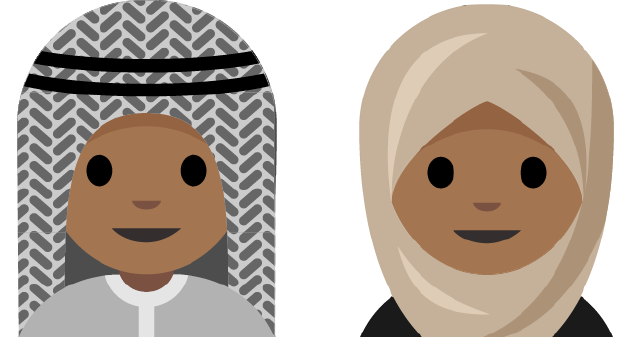 A beta for the potential hijab emoji.