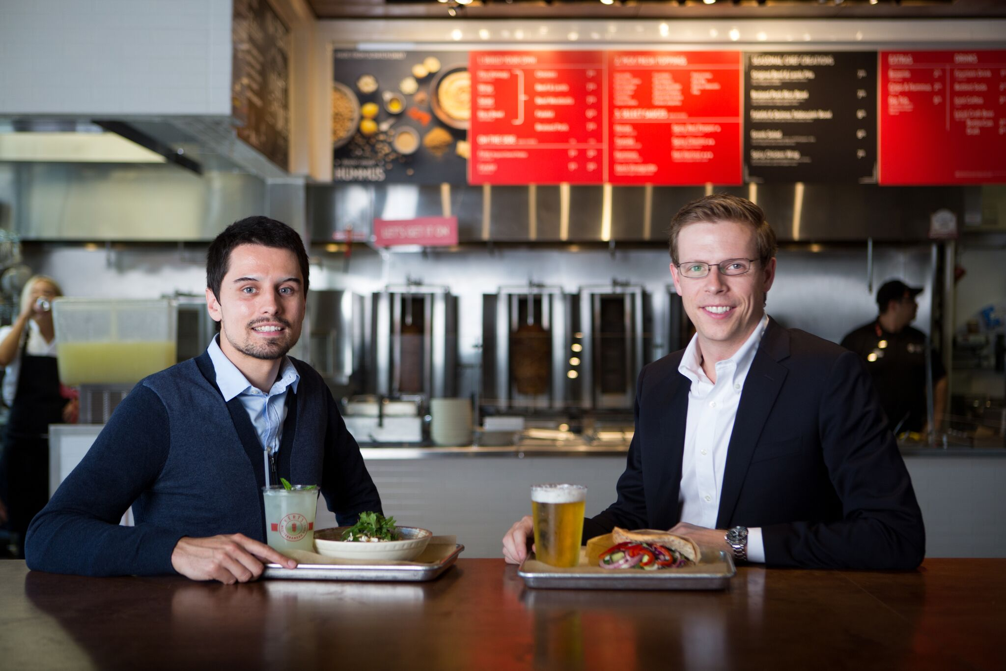 Dominik Stein and Michael  Heyne, co-founders of VERTS Mediterranean Grill