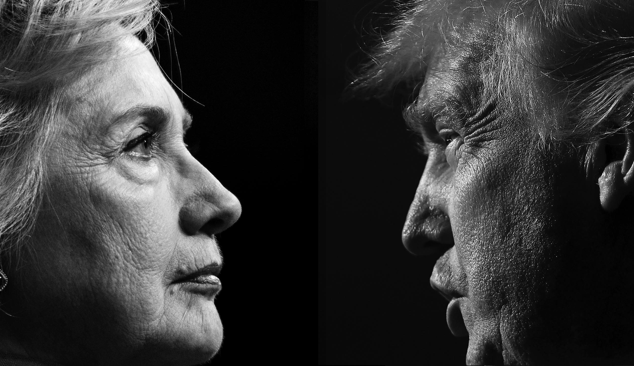 Democratic nominee Hillary Clinton and Republican nominee Donald Trump.