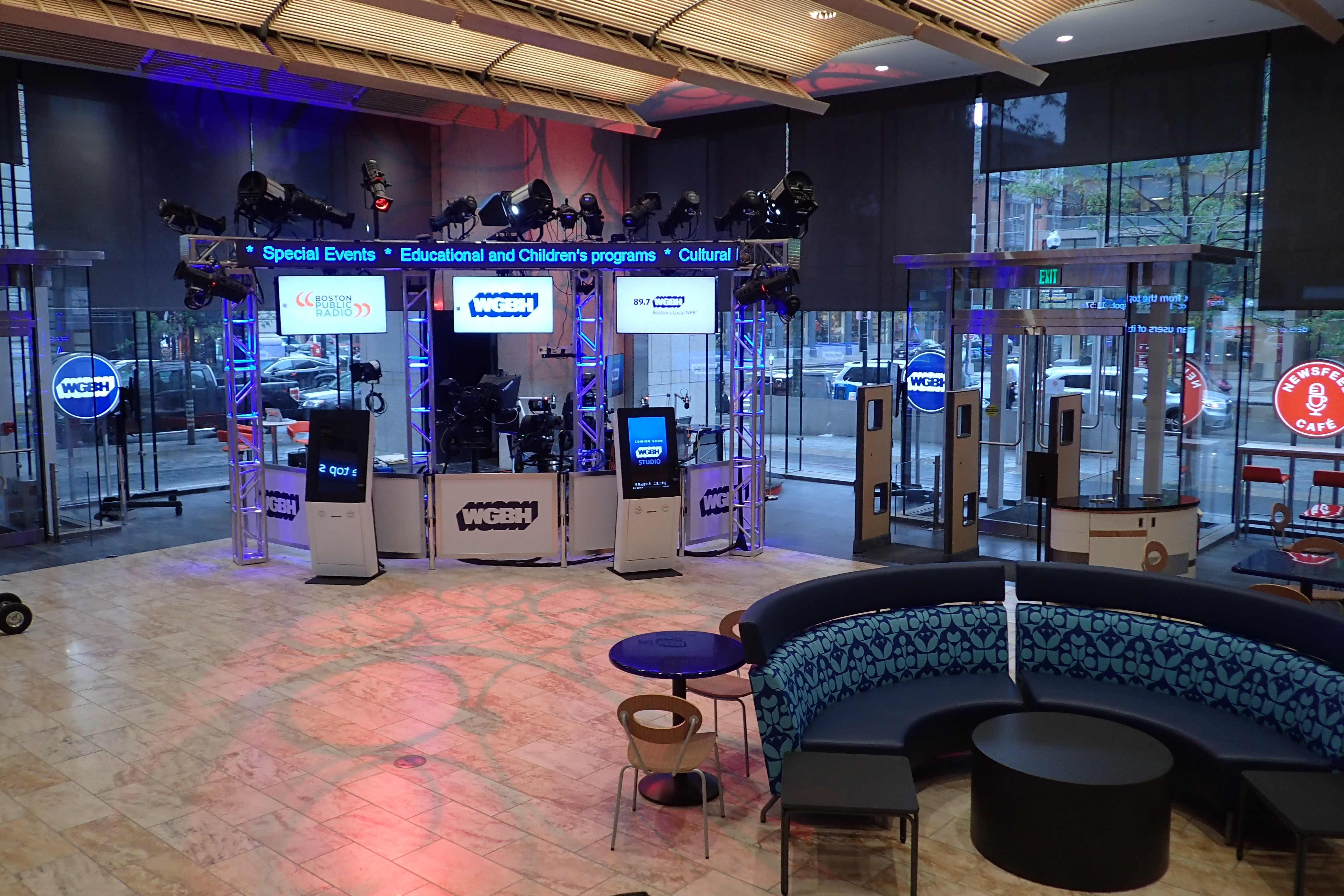 WGBH studio at Boston Public Library