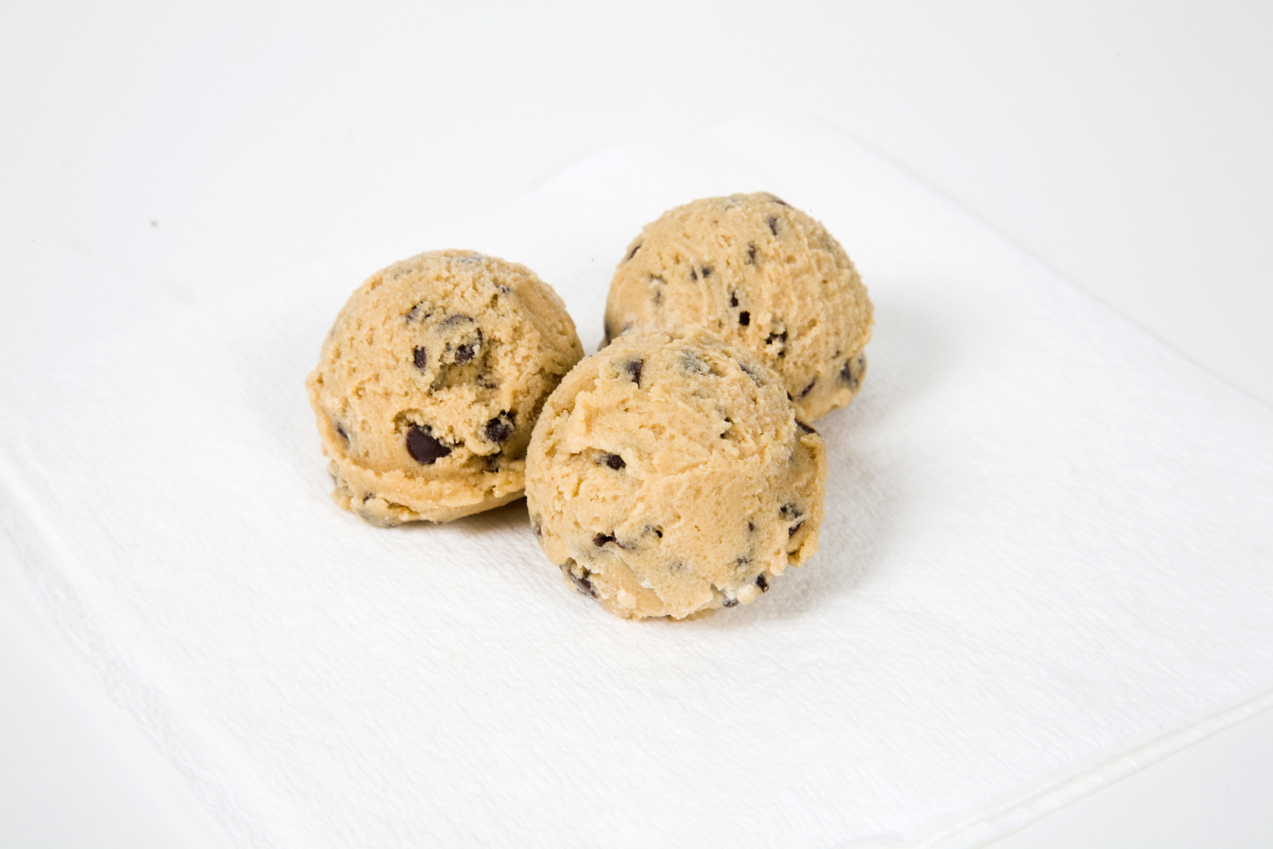Chocolate Chip Cookie Dough Balls at the University of Maryland Ice Cream Making Facilities in College Park Maryland