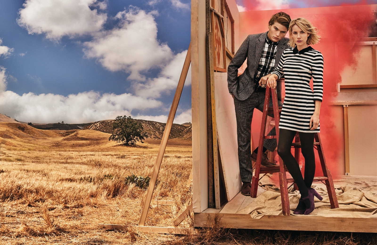 Emma Roberts has a new role, the face of Canvas by Lands' End's fall campaign.