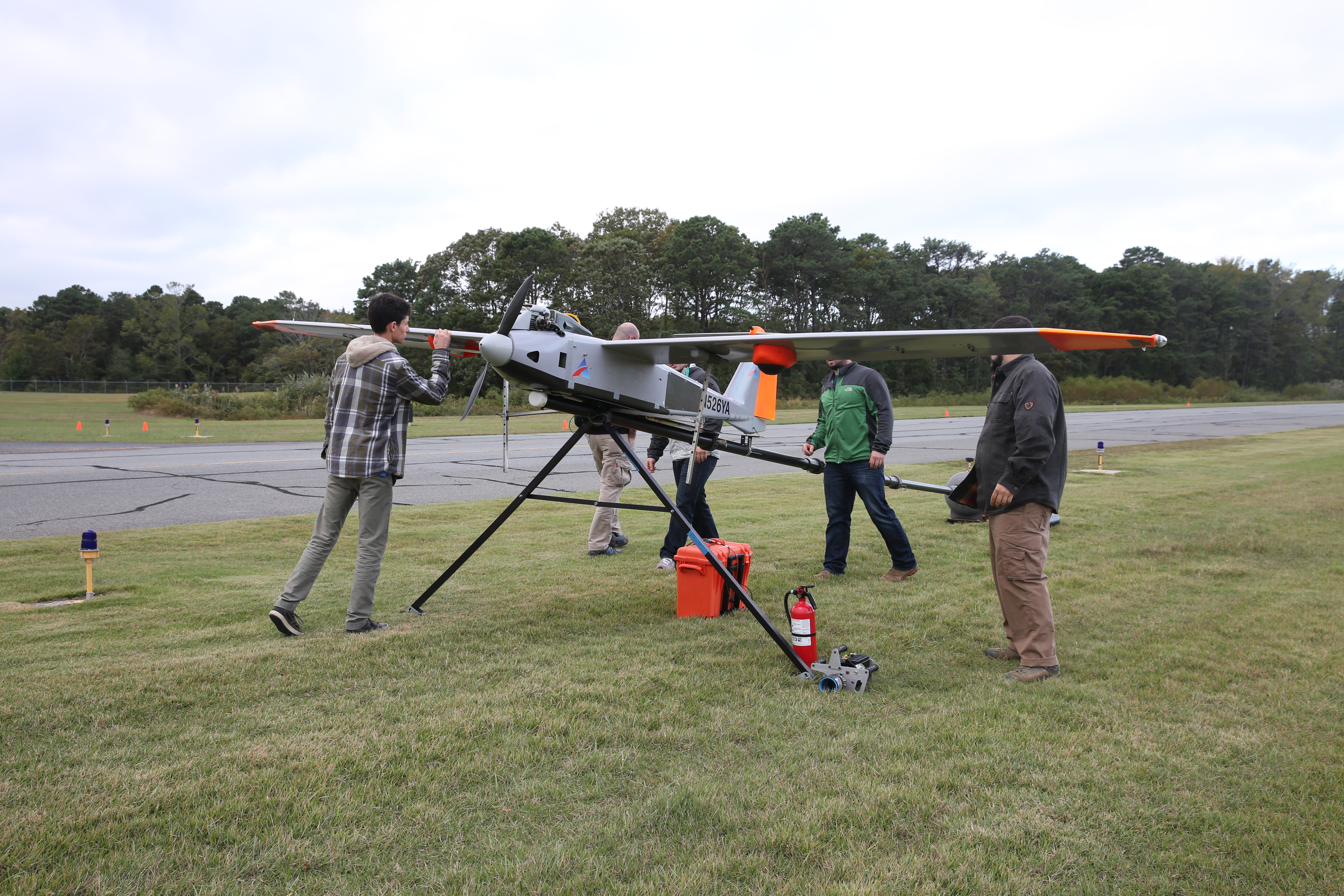 A Verizon drone being tested
