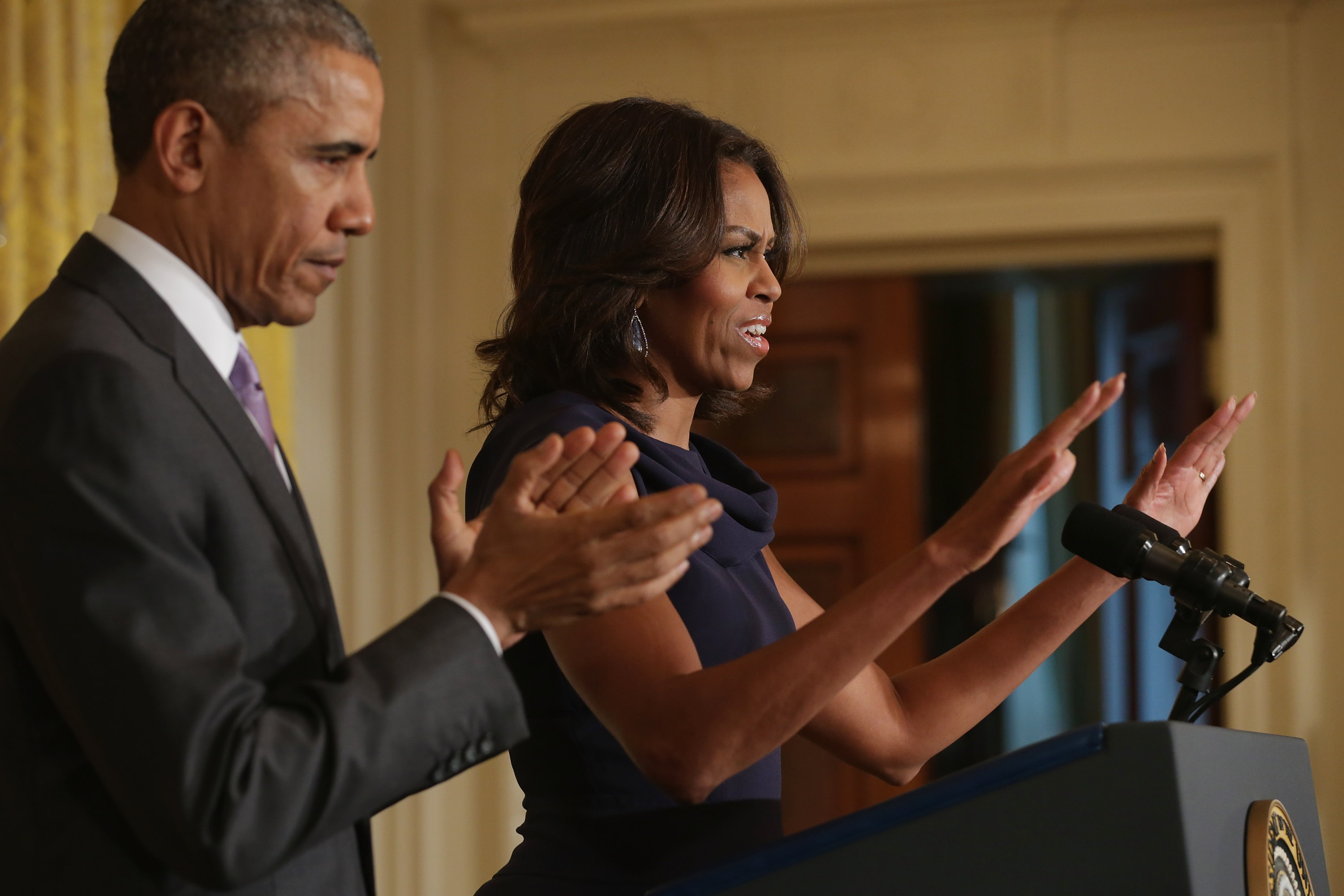 President And Mrs. Obama Discuss Efforts To Help Adolescent Girls Worldwide