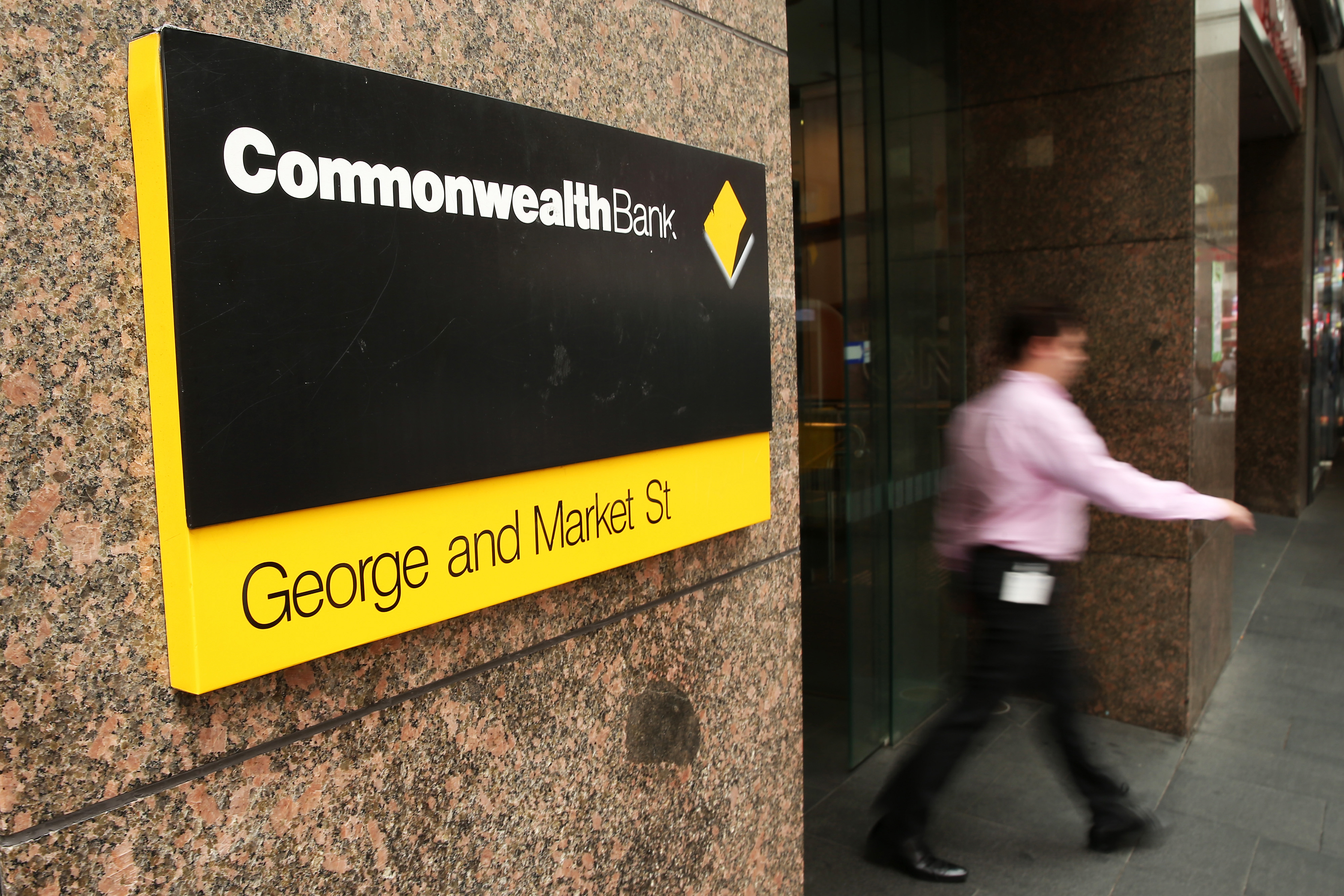 Images Of Commonwealth Bank Of Australia And The Sydney Financial District Ahead Of Earnings