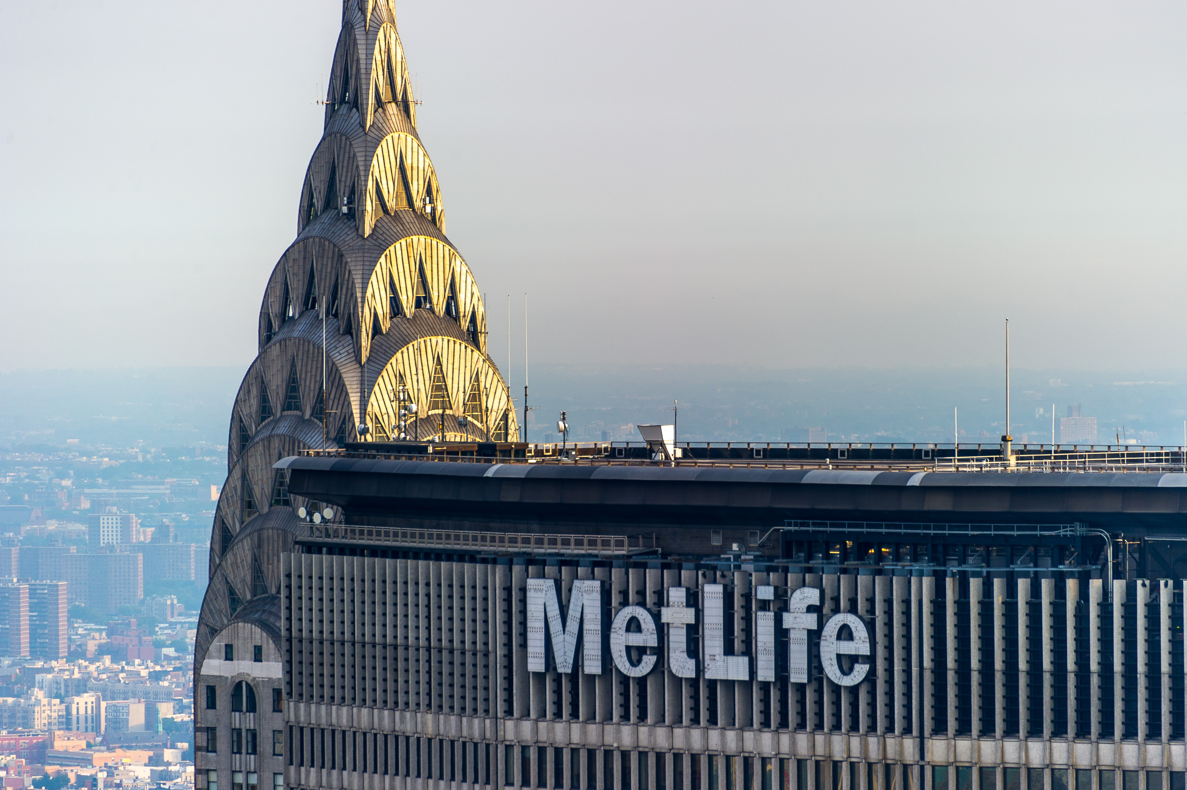 Rooftop Chrysler Building with MetLife