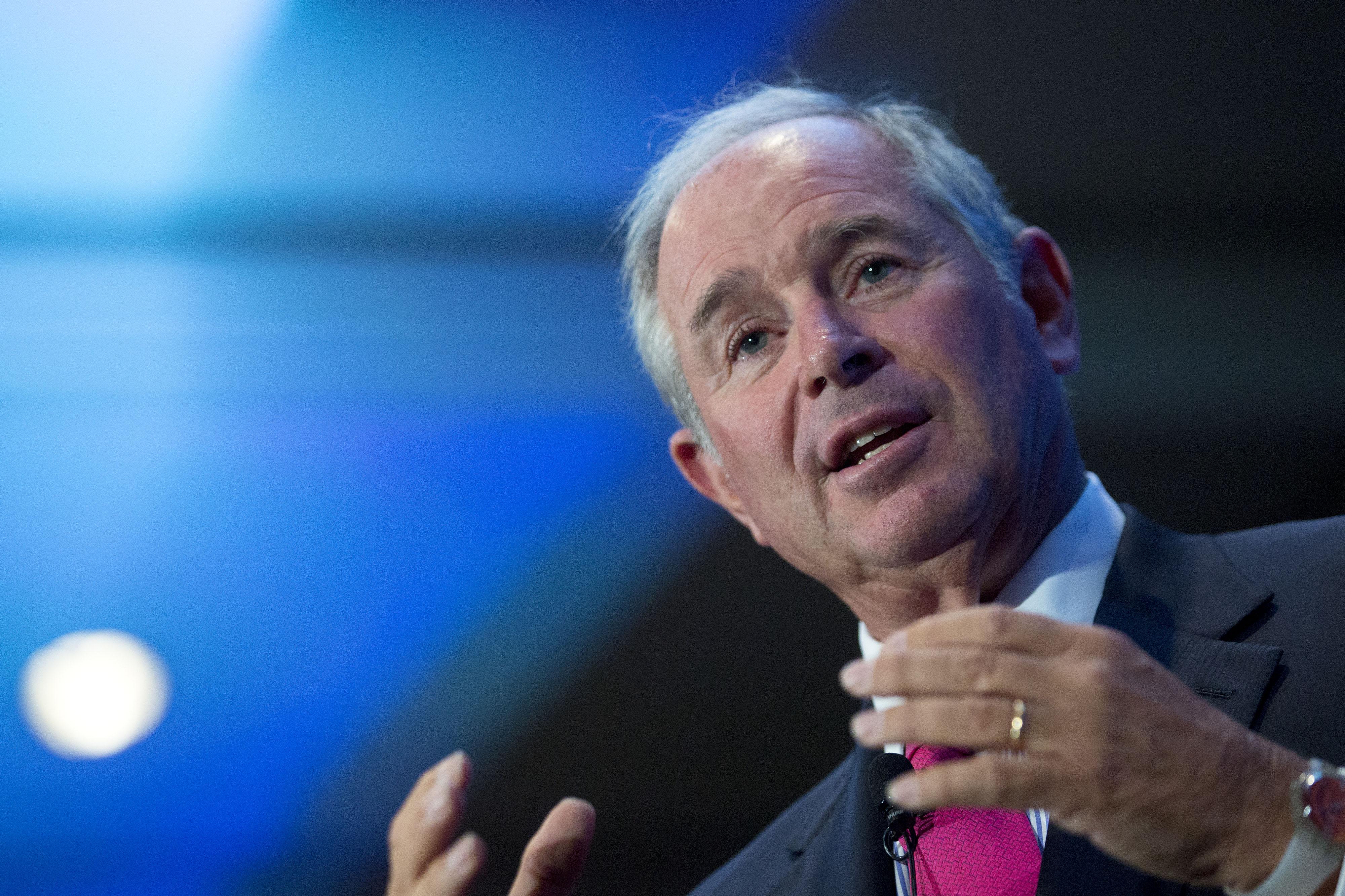 Blackstone Group Chief Executive Officer Stephen Schwarzman Speaks To Economic Club Of Washington