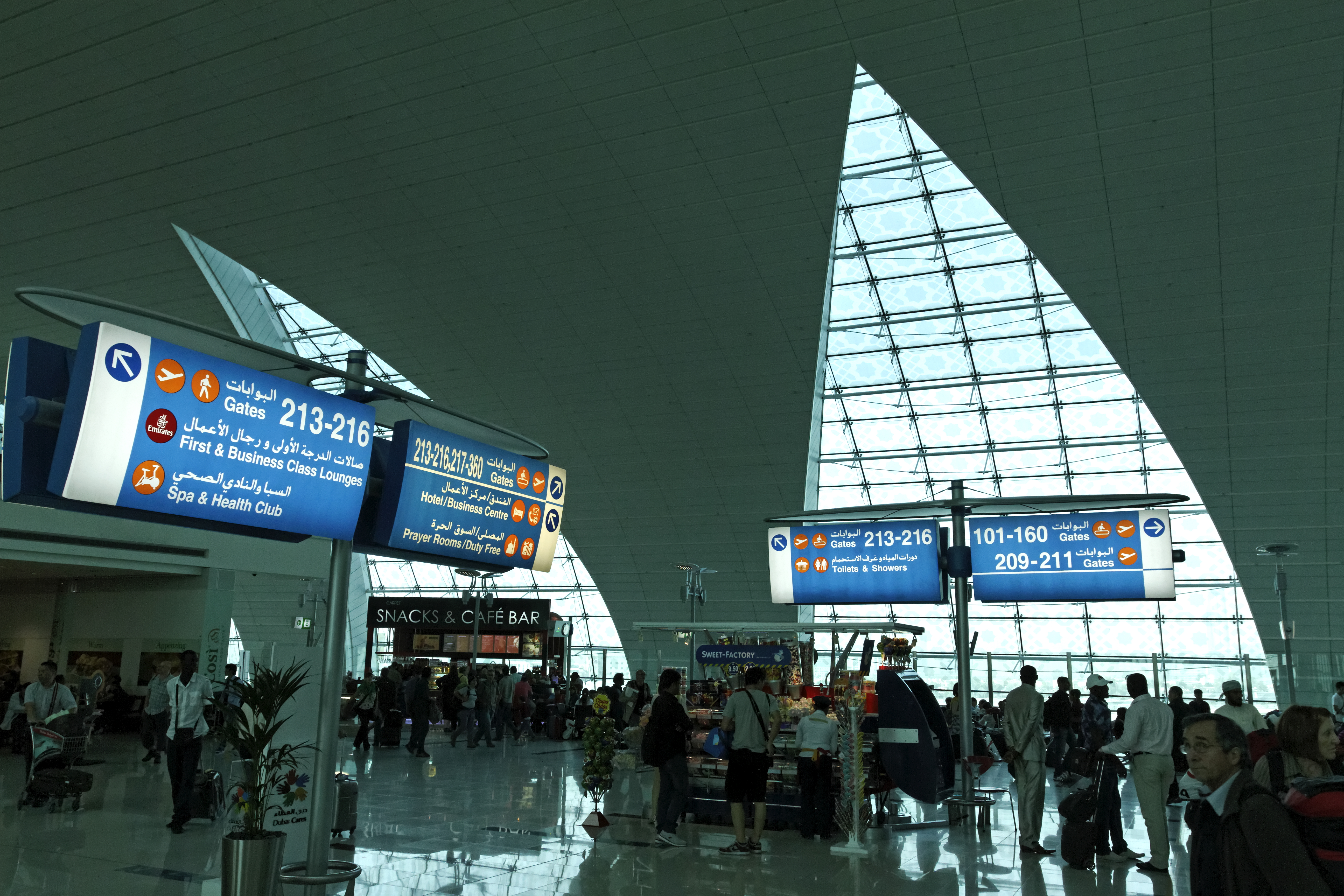 Transit area at Dubai International Airport