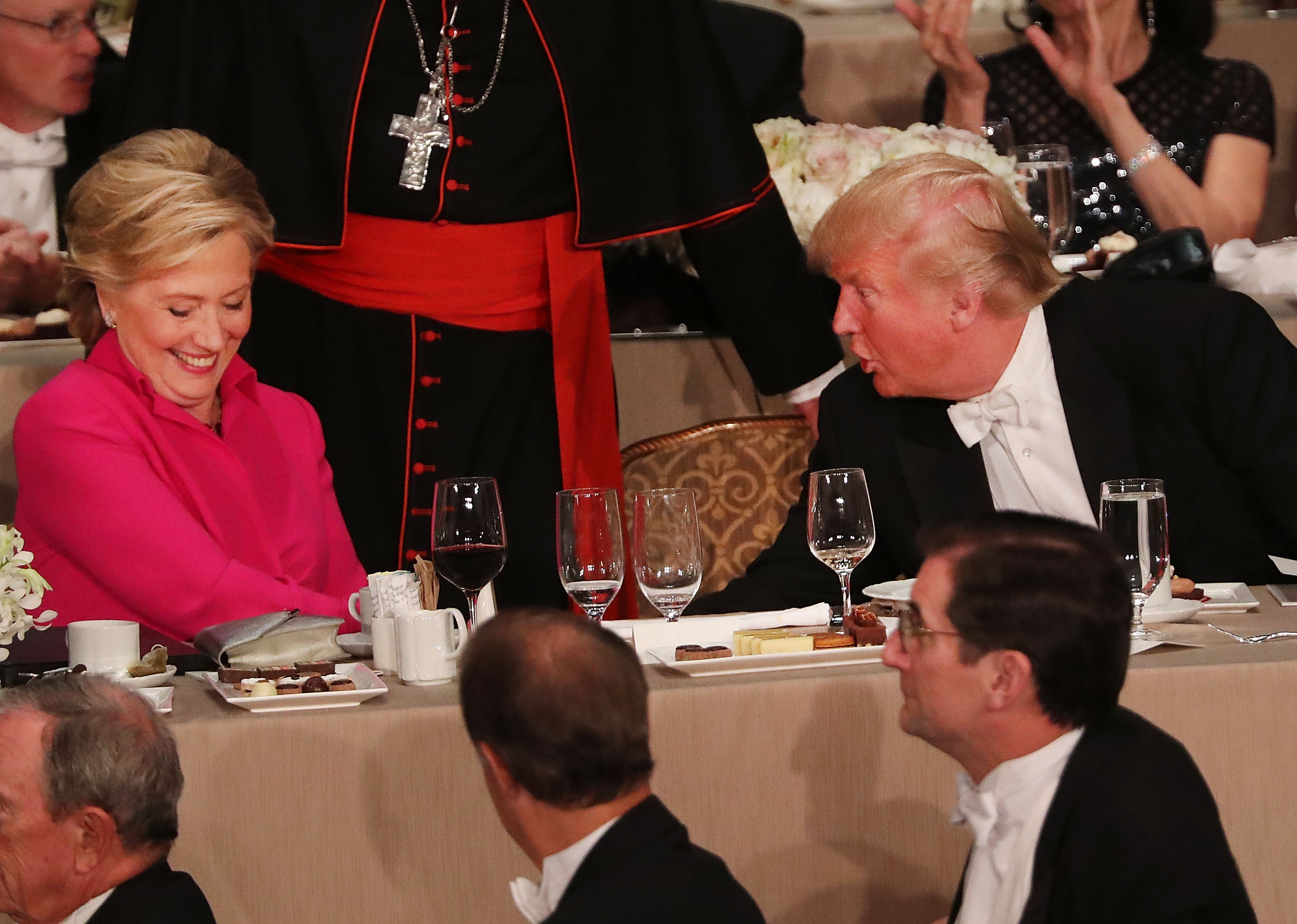 Donald Trump And Hillary Clinton Attend Alfred E. Smith Memorial Foundation Dinner