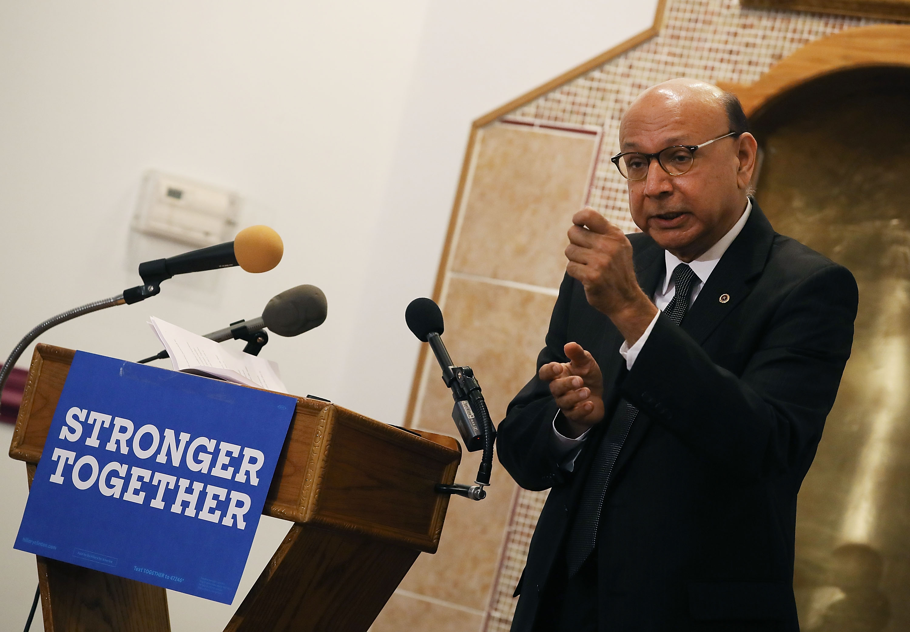 Gold Star Father Khizr Khan Campaigns For Hillary Clinton In Norfolk, Virginia