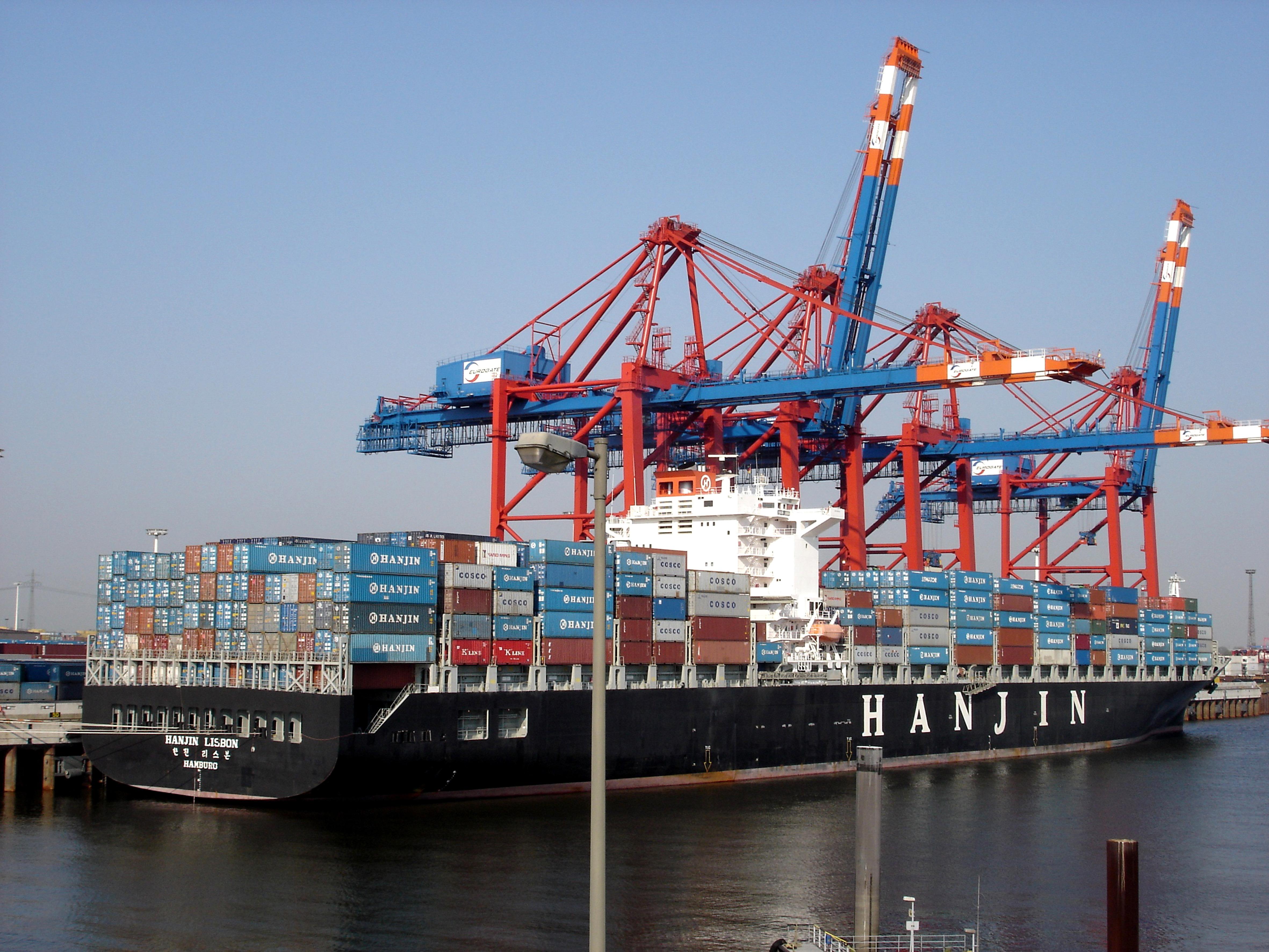 Hamburg, Eurogate, Containerschiff