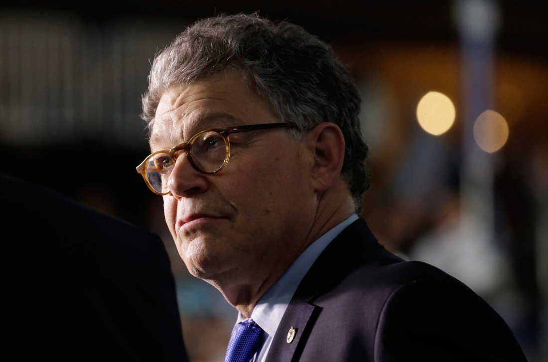 Senator Al Franken (D-MN) is seen at the Democratic National Convention in Philadelphia, Pennsylvania