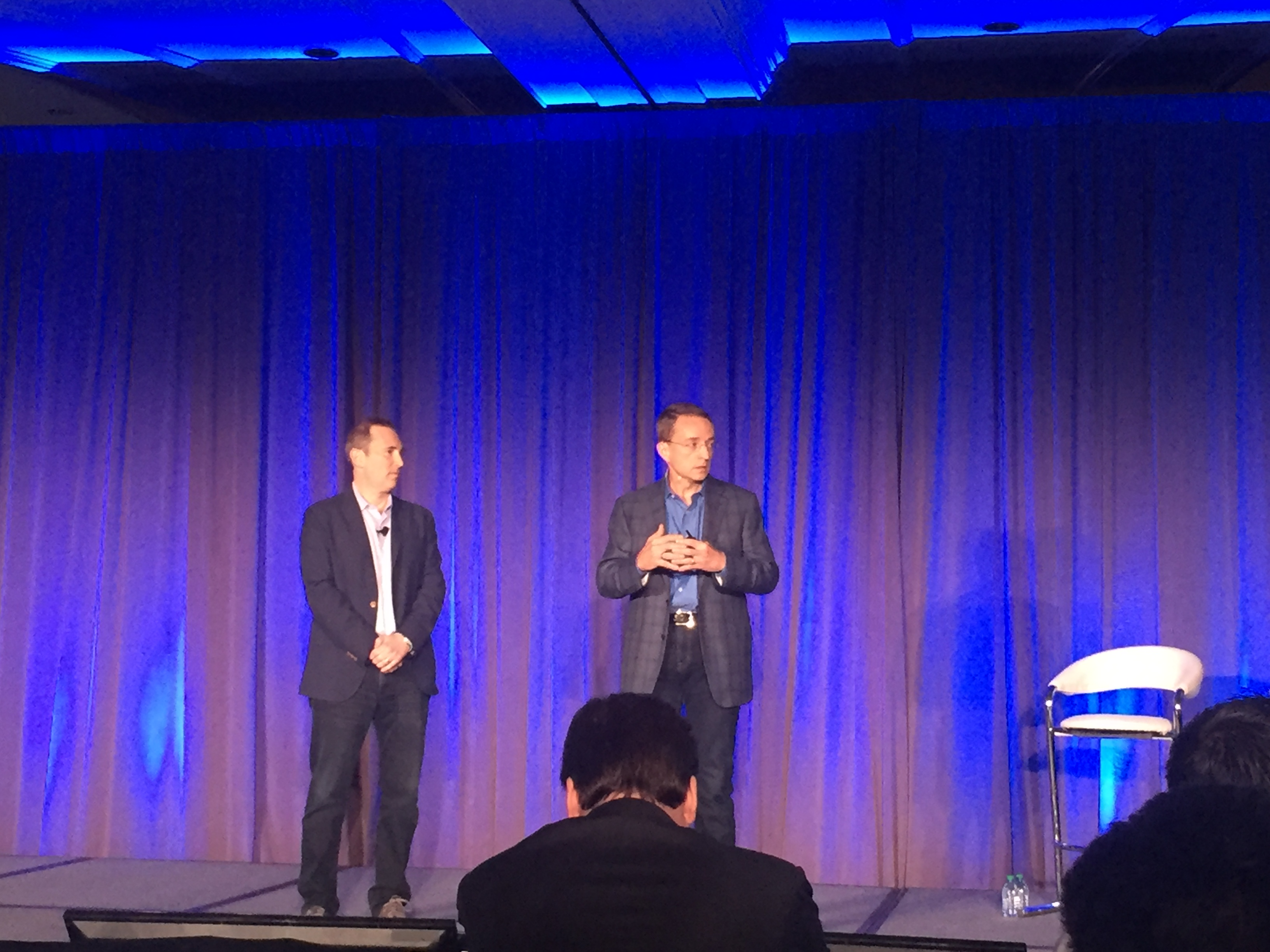Amazon Web Services CEO Andy Jassy and VMware CEO Pat Gelsinger