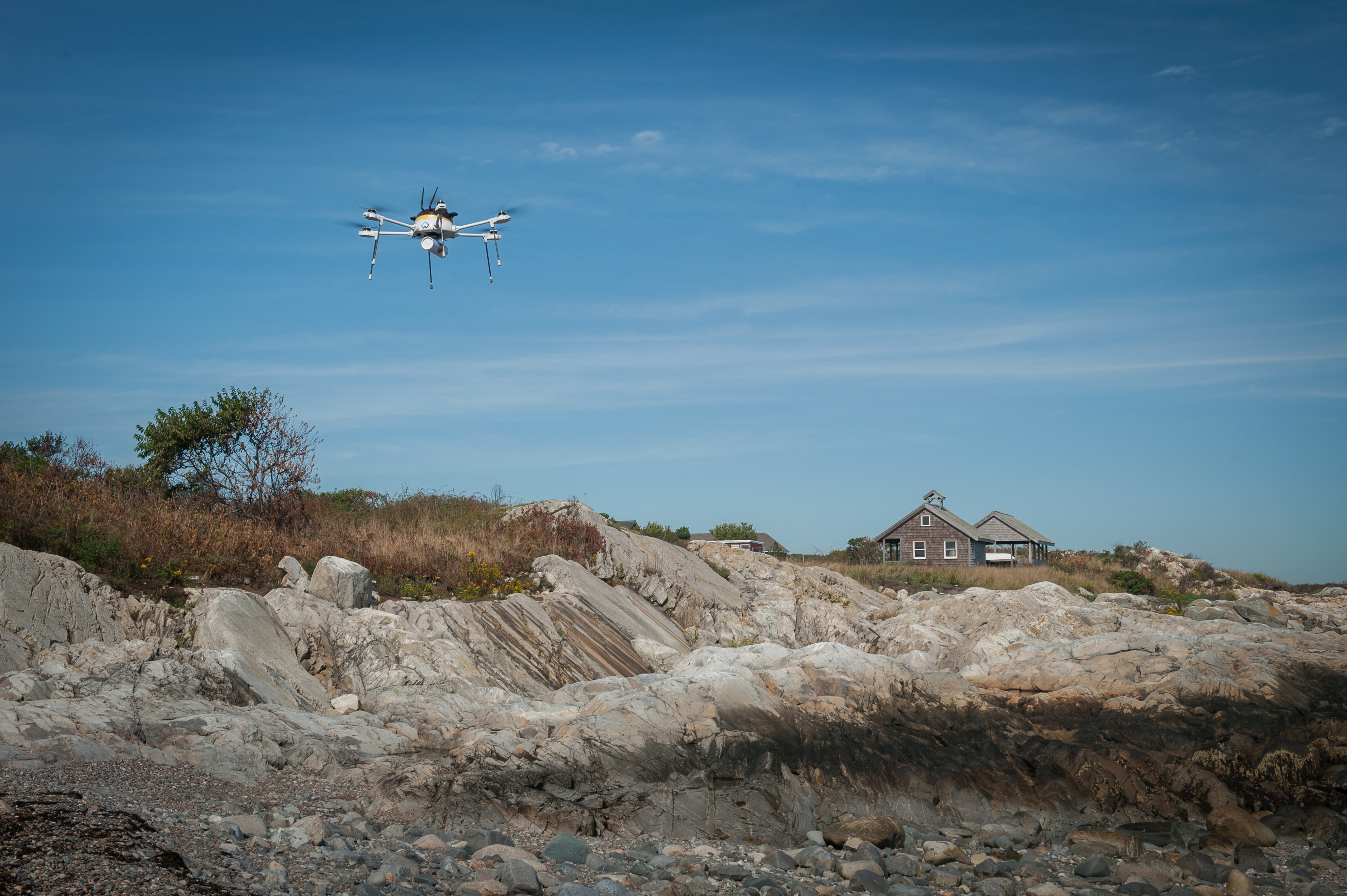 UPS and CyPhy Works test a drone delivery.