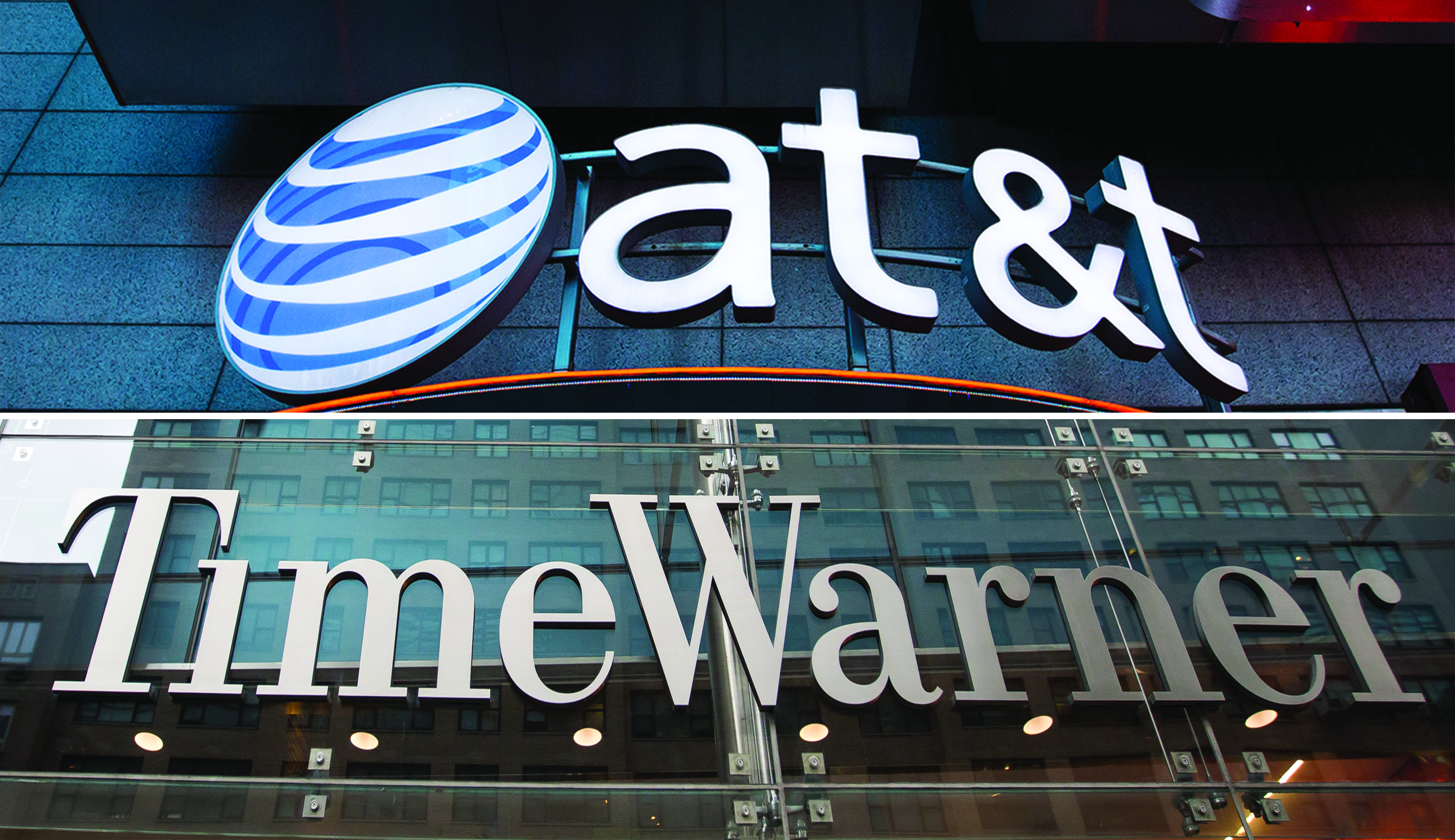 AT&T and Time Warner signs