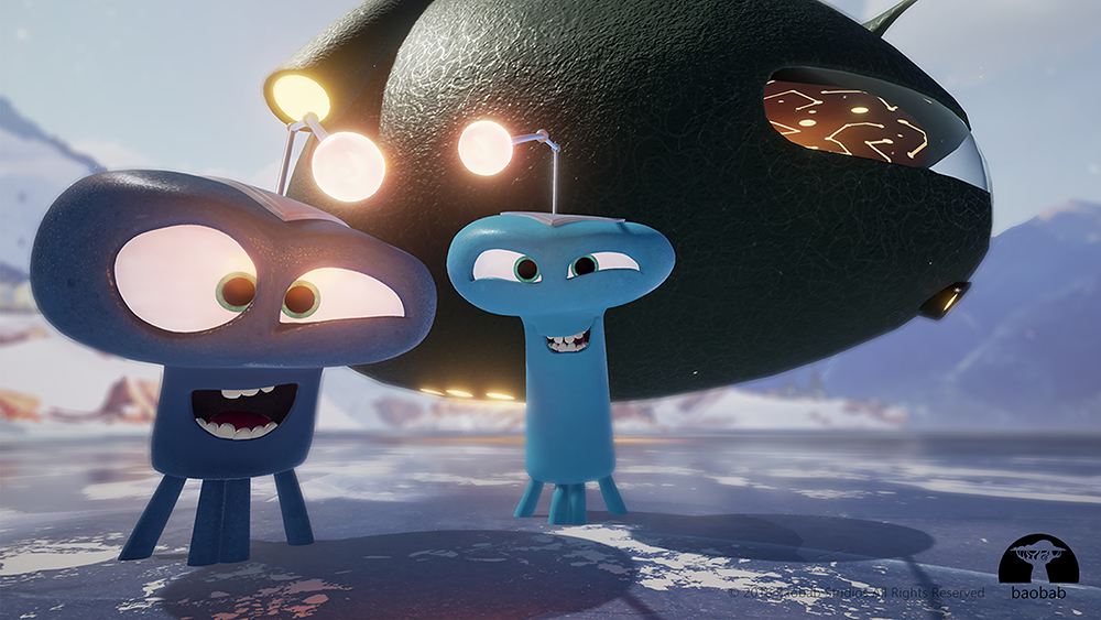 Aliens from the VR animated short Invasion!