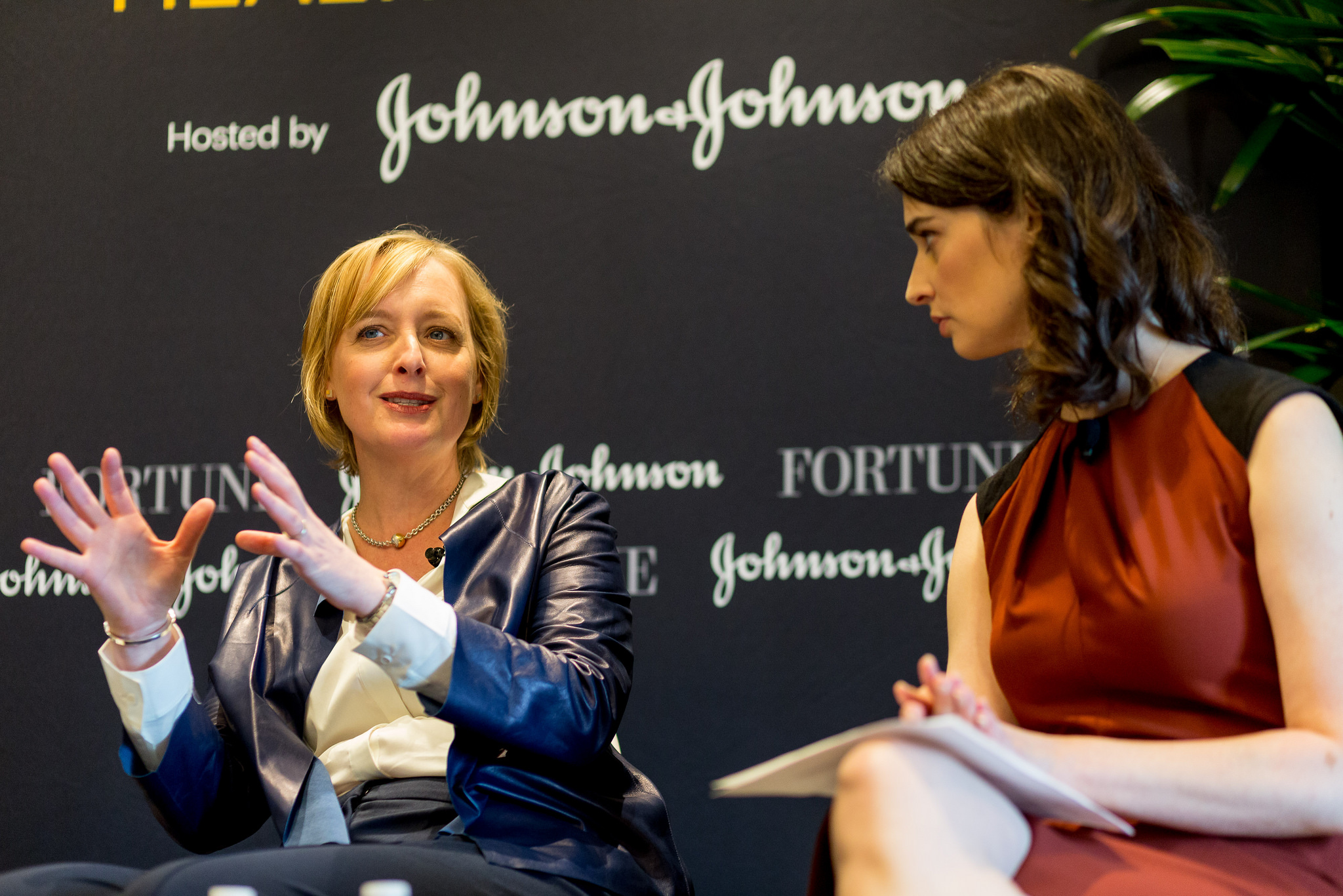 Julie Sweet, Group CEO of Accenture North America speaks with Fortune senior writer Beth Kowitt on Monday at Fortune's Most Powerful Women conference in Laguna Niguel, California.