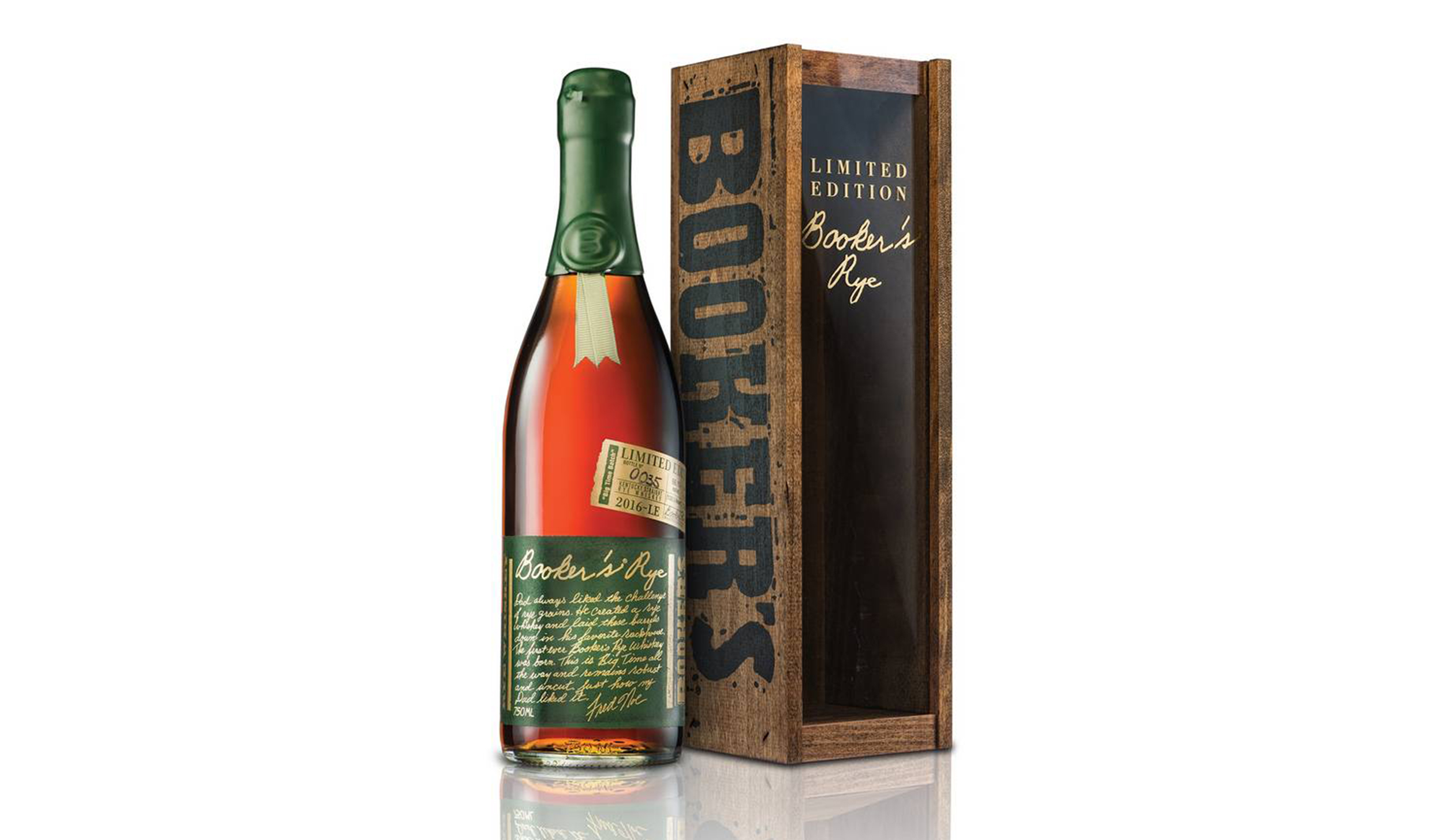 "Jim Murray's Whisky Bible named Booker's Rye Whiskey the ""World Whisky of the Year"" for 2017."