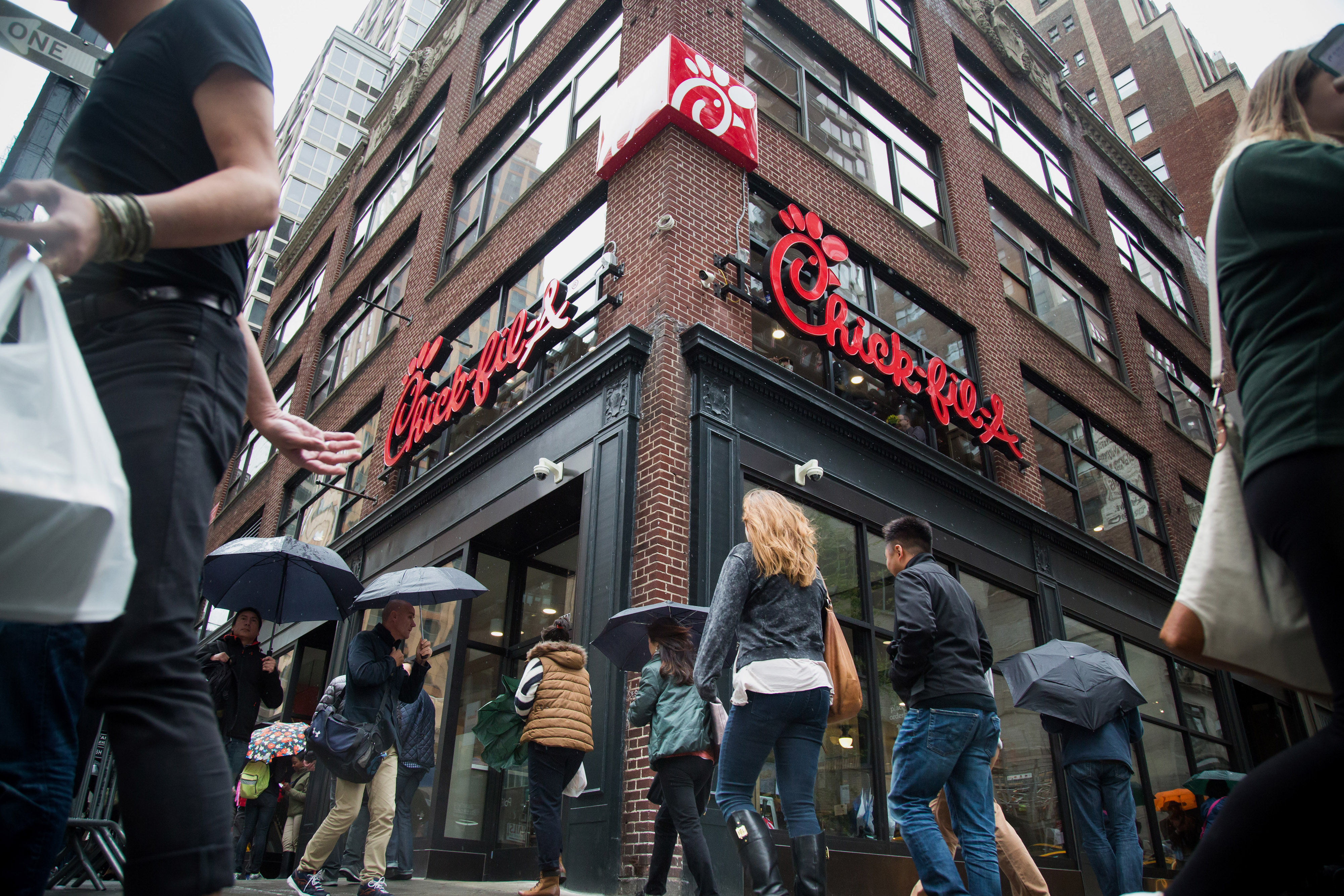 Operations Inside A Chick-fil-A Location As Restaurant Opens Manhattan Outpost In Northern Push
