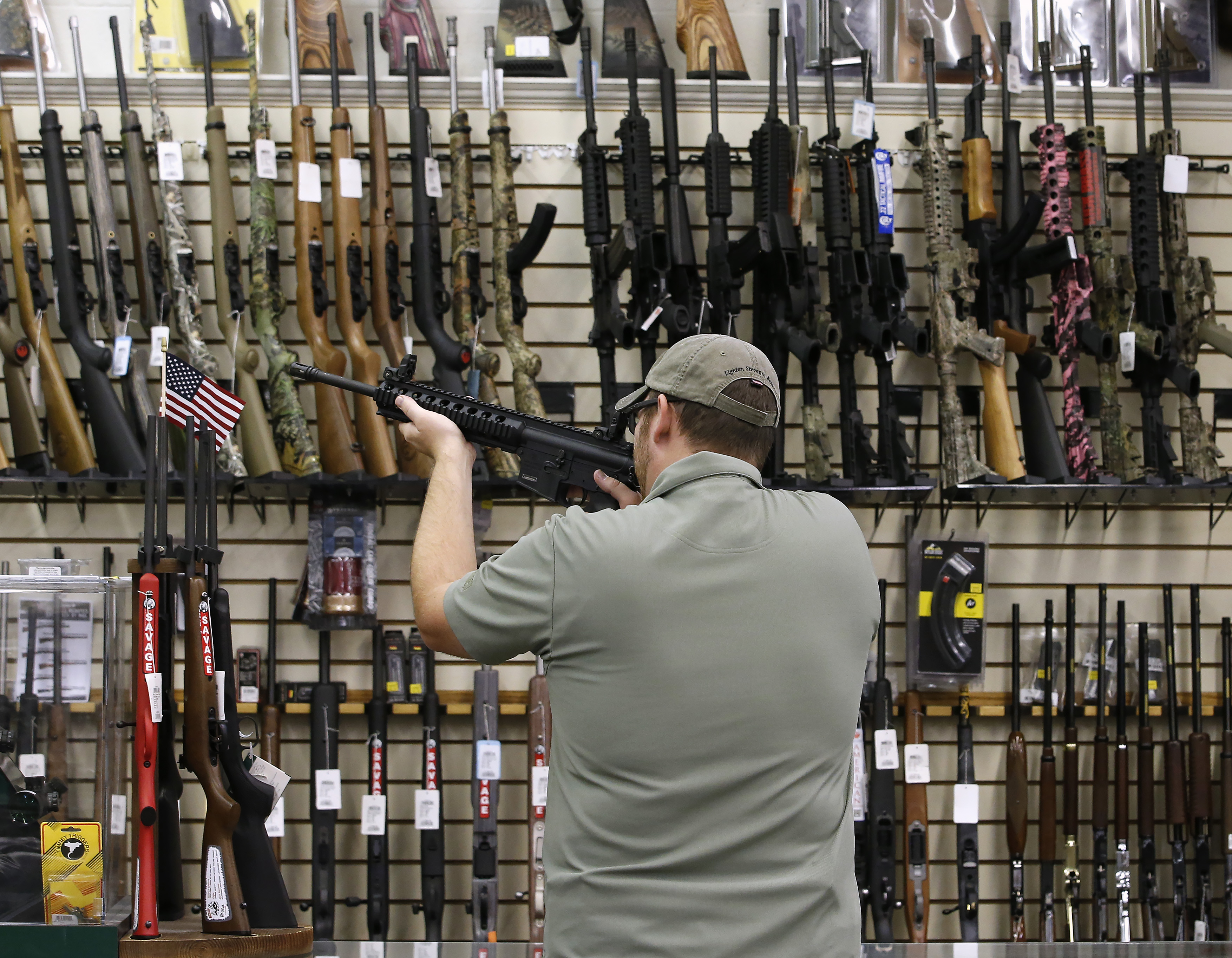 Inside A Gun And Ammunition Store As Debate About Gun Ownership Continues During U.S. Elections