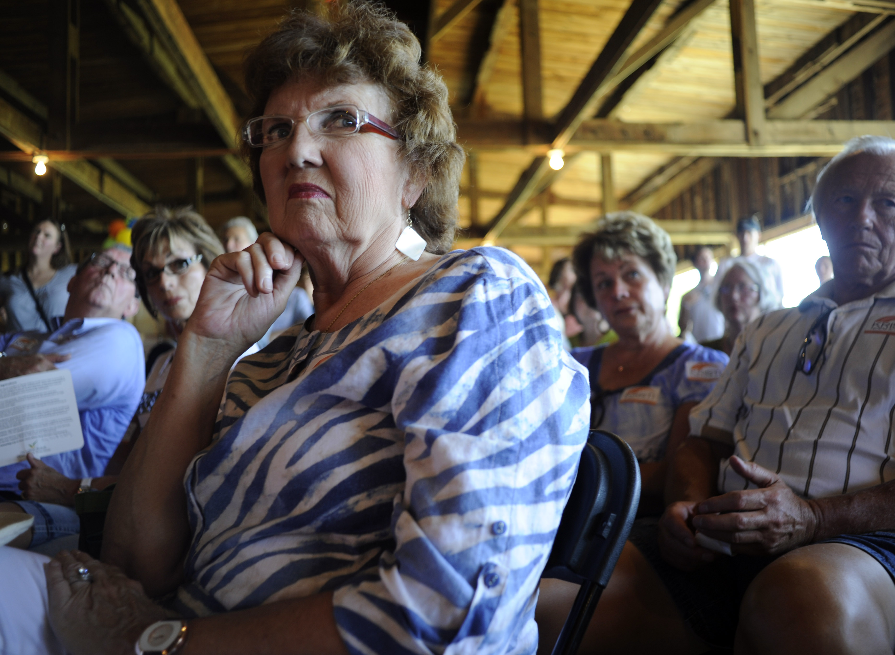 SIOUX FALLS, SD- August 11:  At  political forum at the Fairgrou