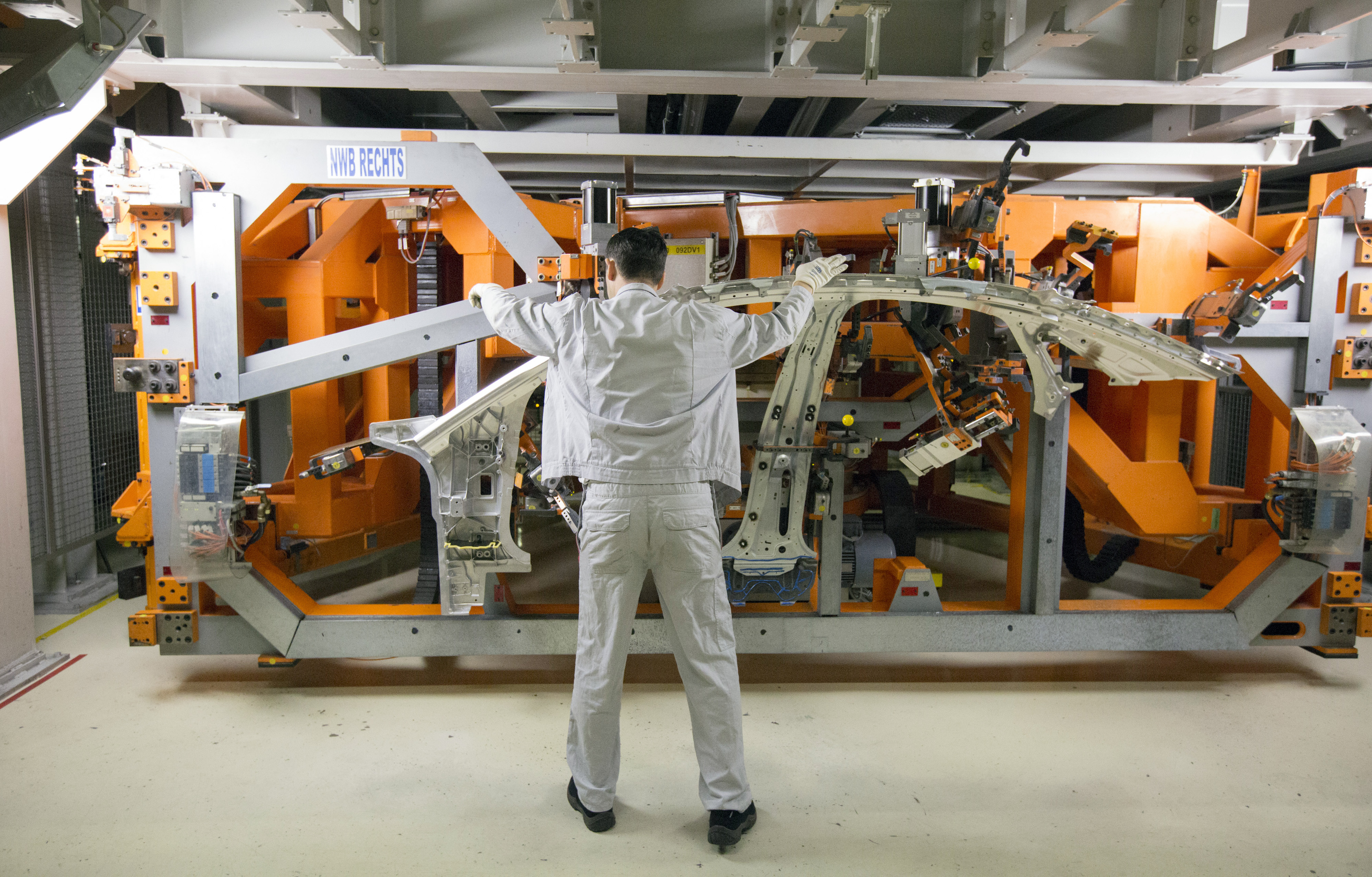 Automobile Manufacture At Audi AG's Factory