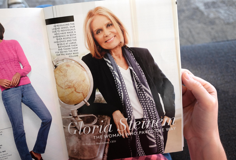 WASHINGTON, DC,- FEBRUARY 26: Gloria Steinem feature in the Lan