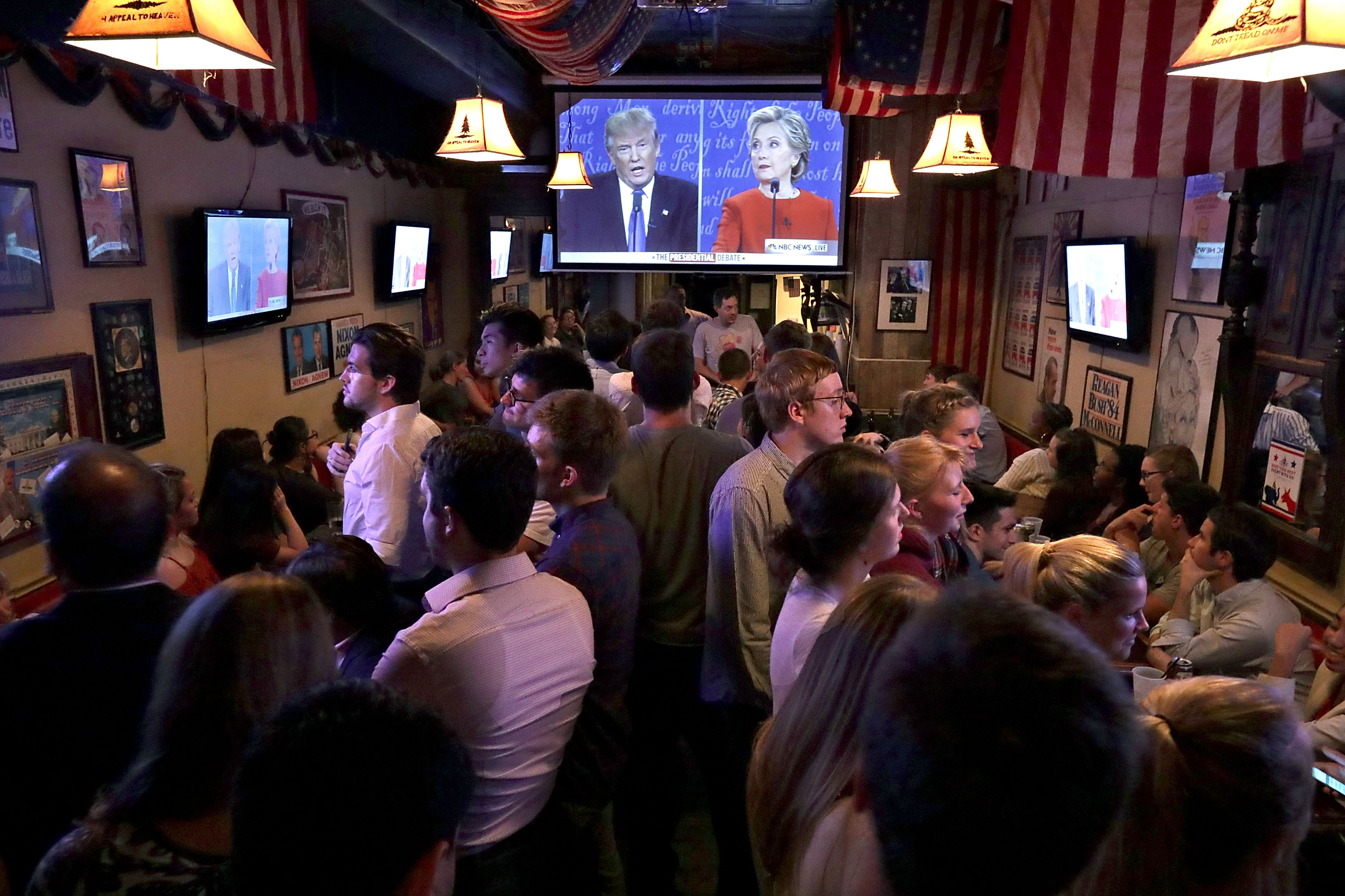 Presidential Debate Watch Party Held In Washington DC