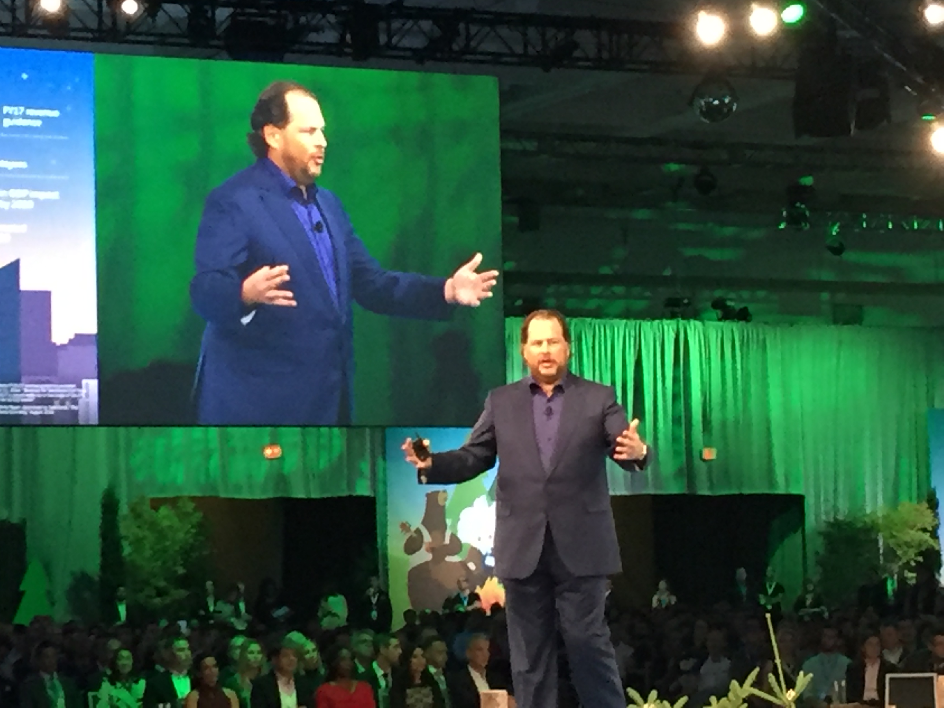 Salesforce CEO Marc Benioff at Dreamforce 2016