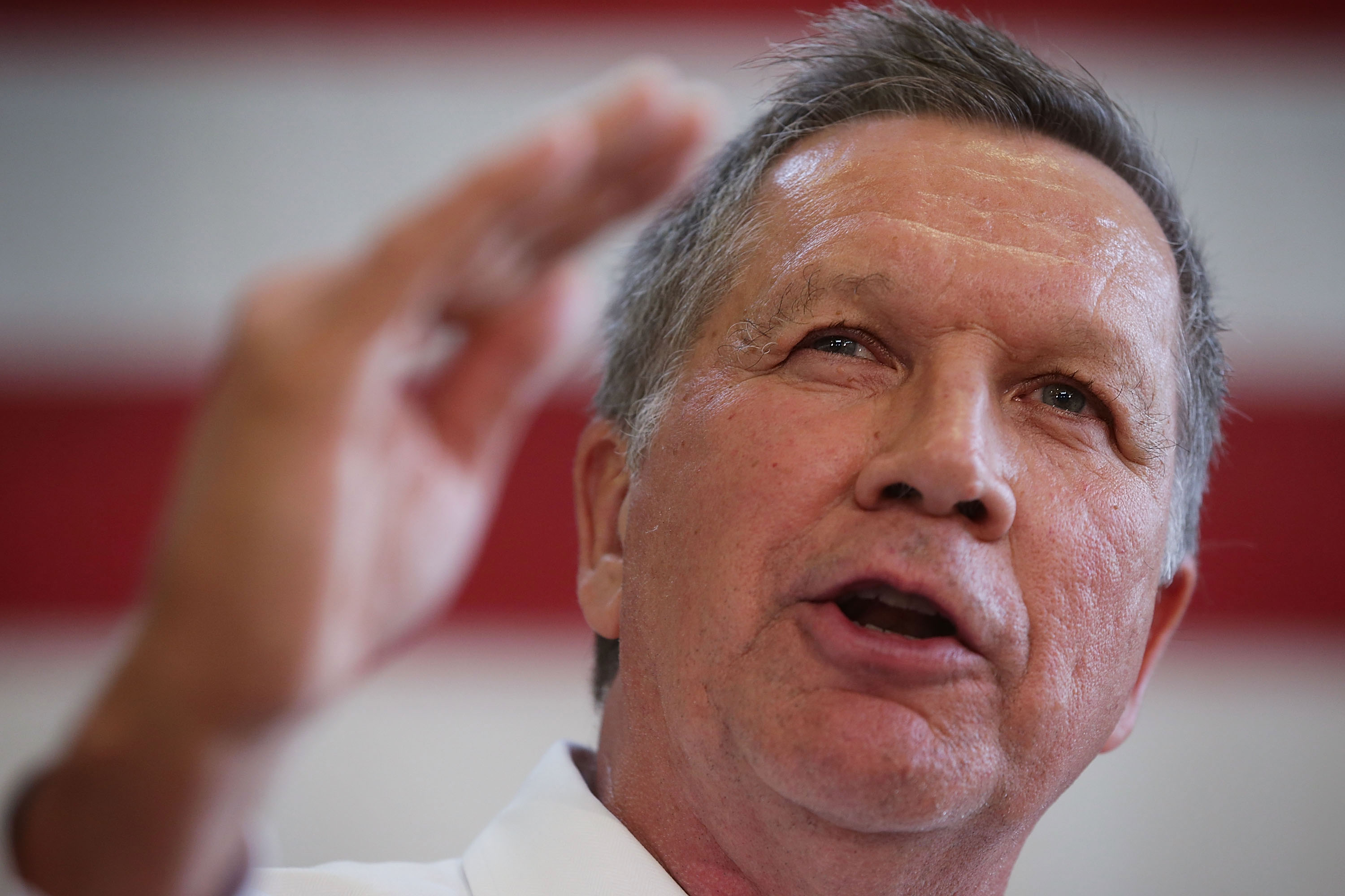 John Kasich Campaigns In Maryland Ahead Of State Primary