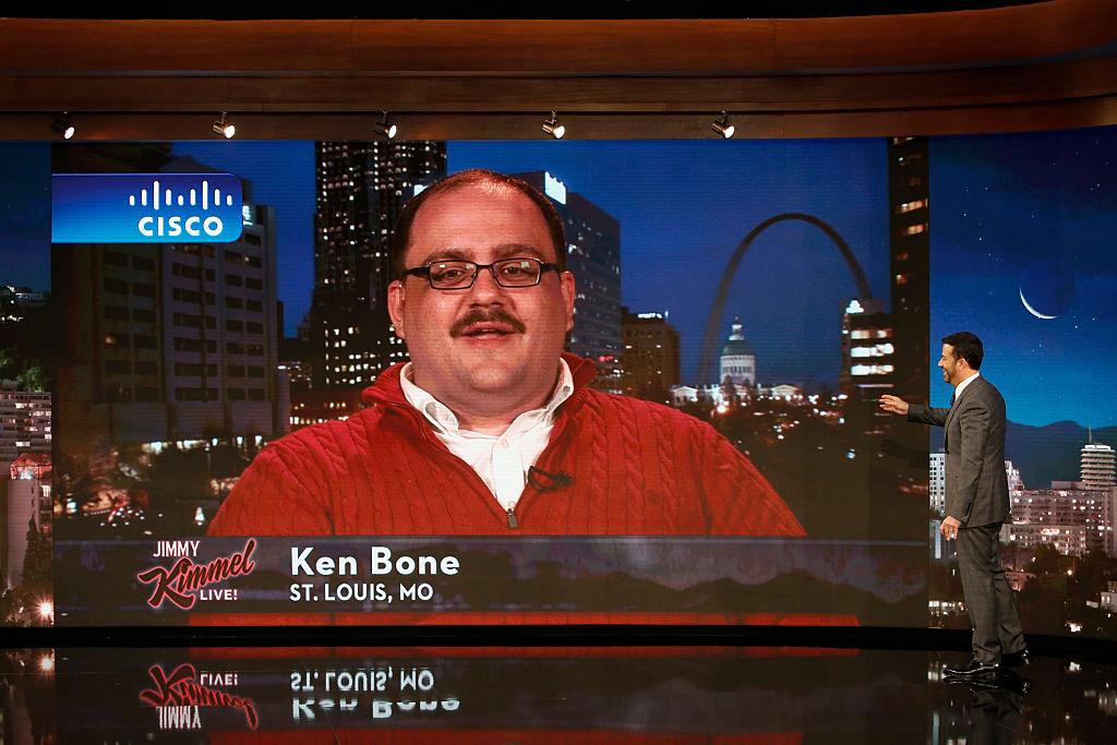 "Ken Bone during an appearance on ""Jimmy Kimmel Live."""