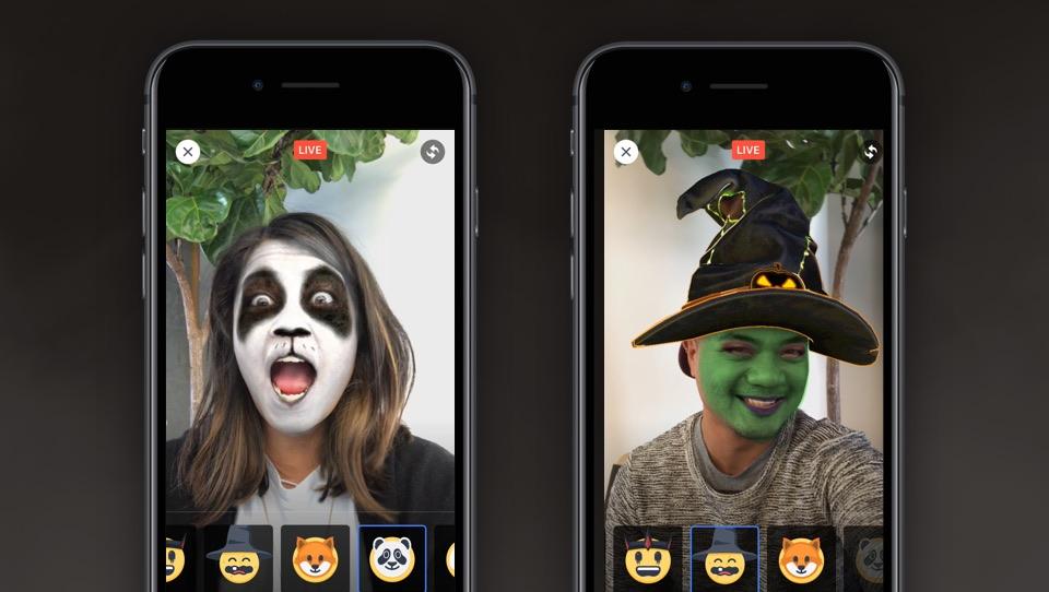 Facebook Live Masks.